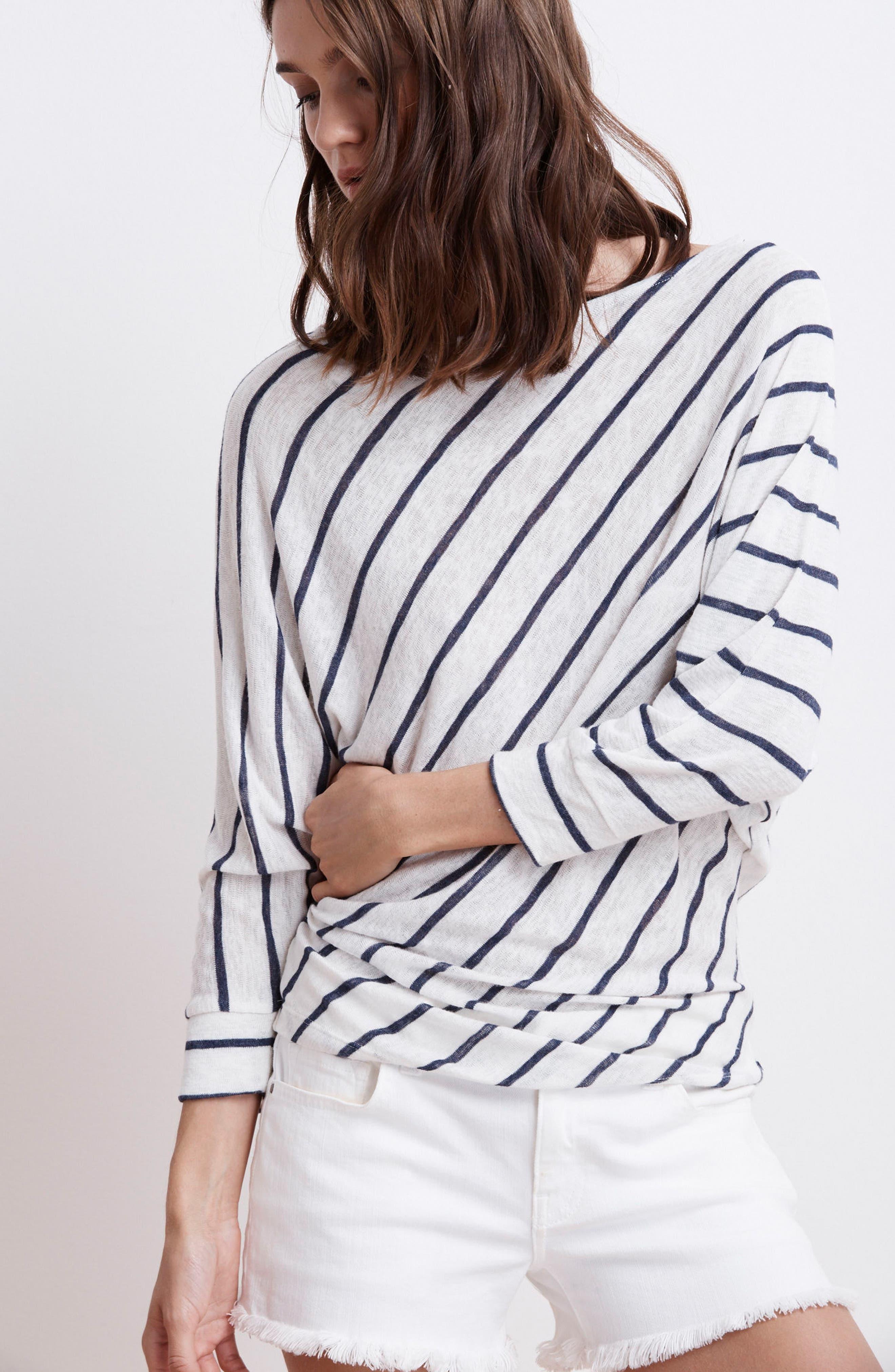 Stripe Dolman Sleeve Top,                             Alternate thumbnail 8, color,                             195