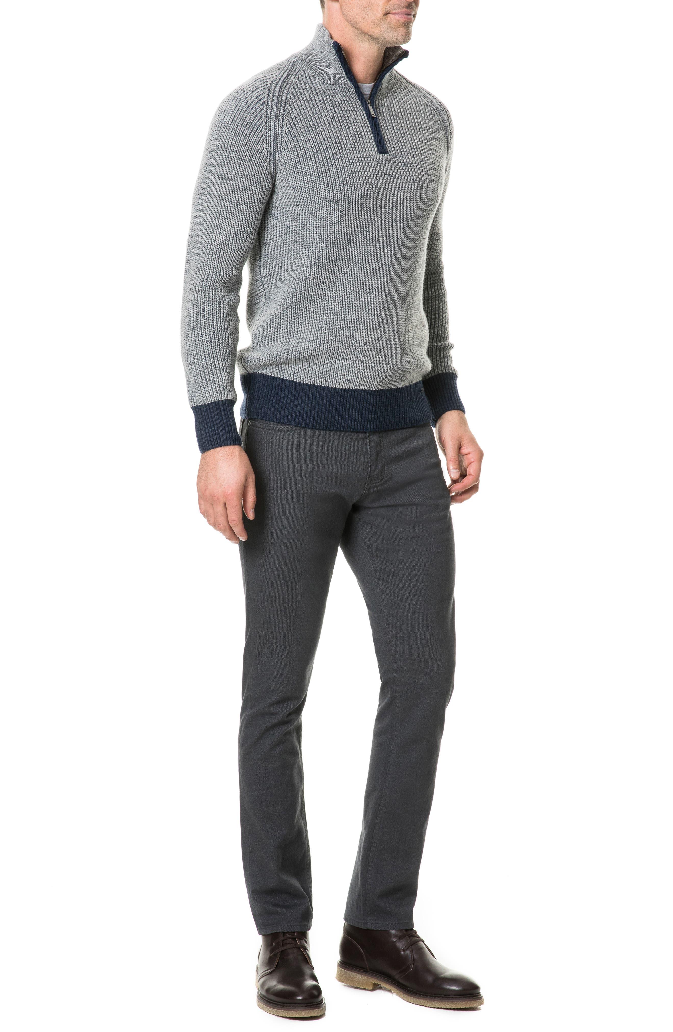 Mackinder Quarter Zip Merino Wool Sweater,                             Alternate thumbnail 5, color,                             268