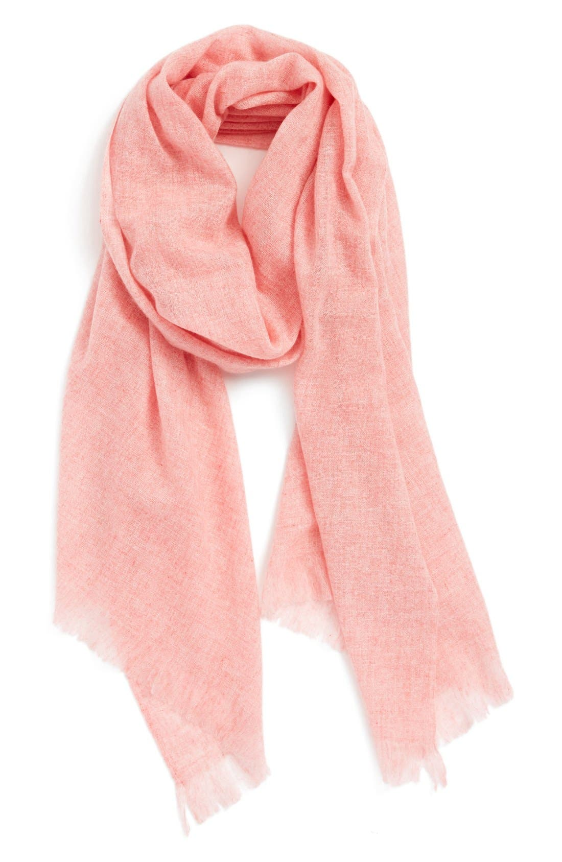 Caslon<sup>®</sup> Heathered Cashmere Gauze Scarf,                             Main thumbnail 10, color,