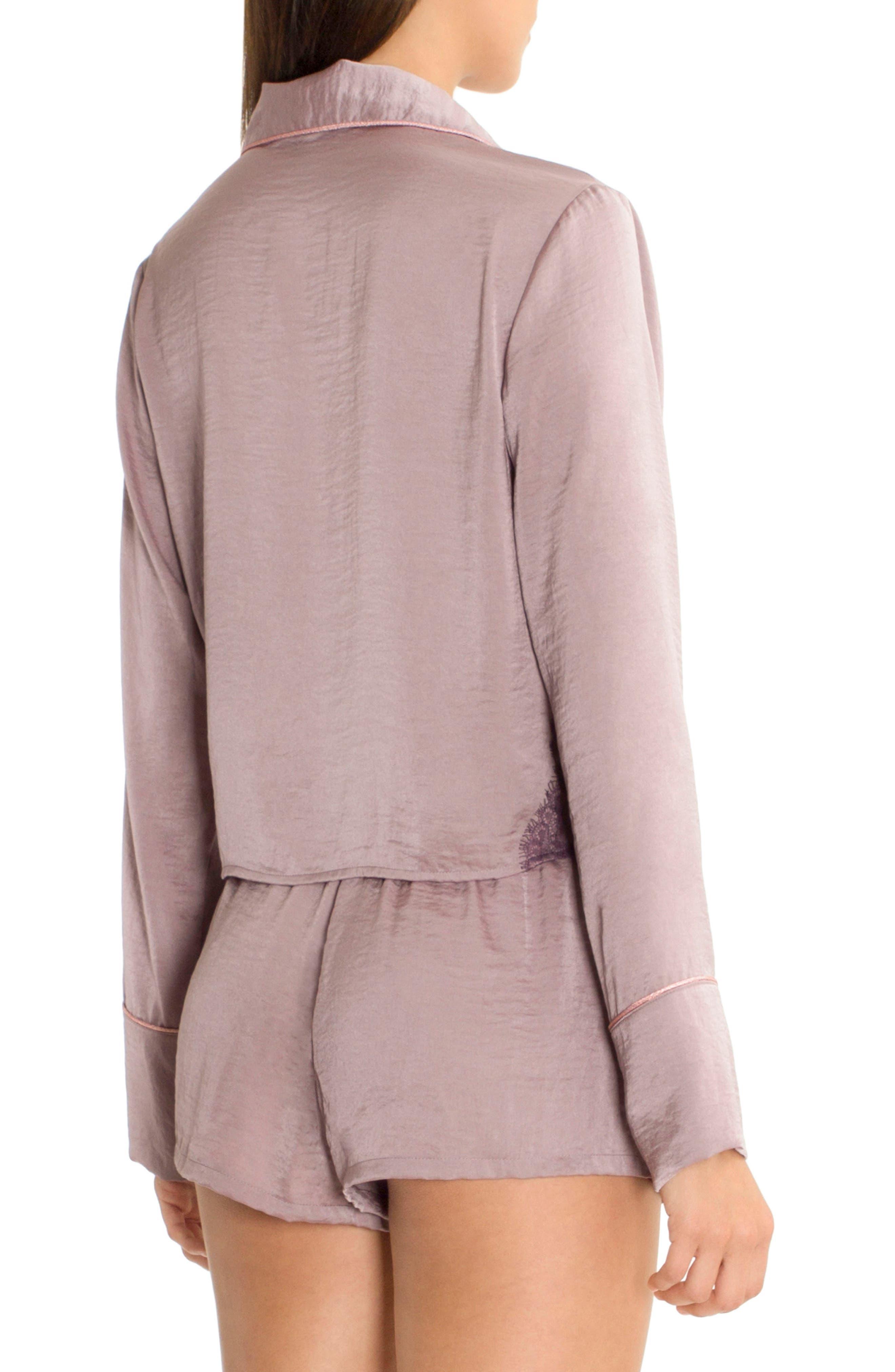 Crop Pajama Top,                             Alternate thumbnail 2, color,                             500