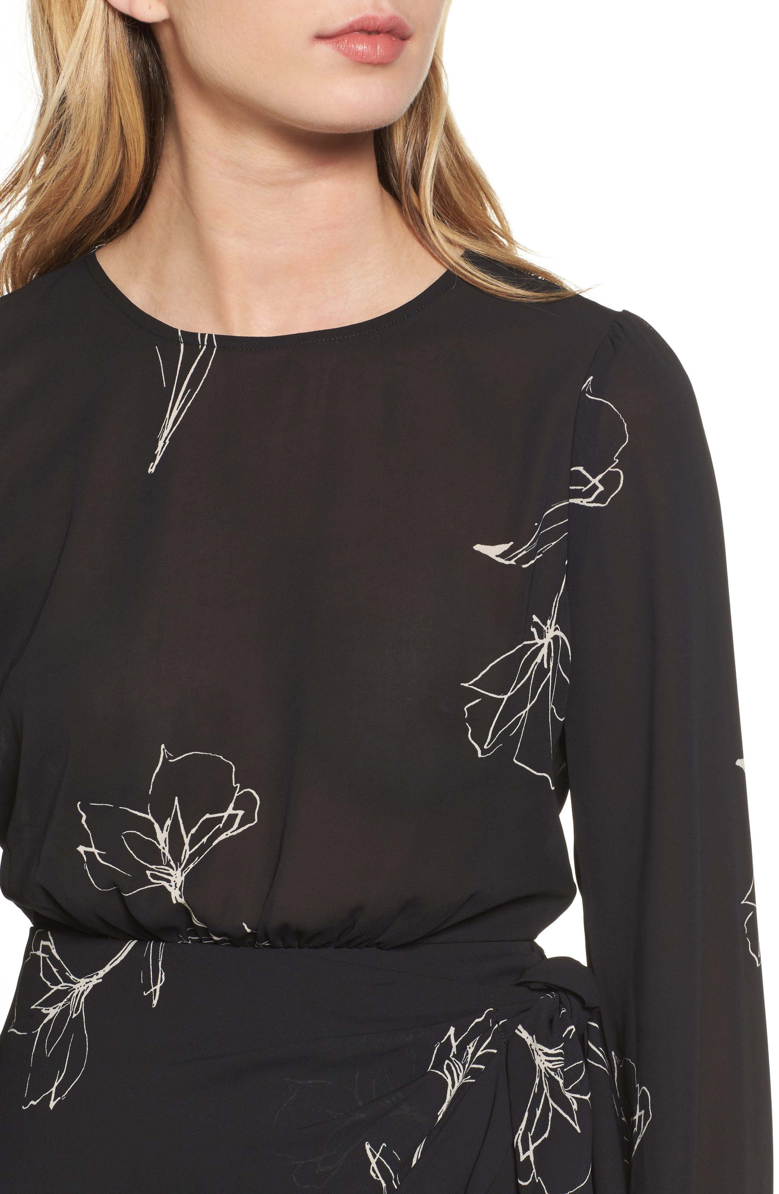 Rex Silk Jacket Dress,                             Alternate thumbnail 4, color,                             001