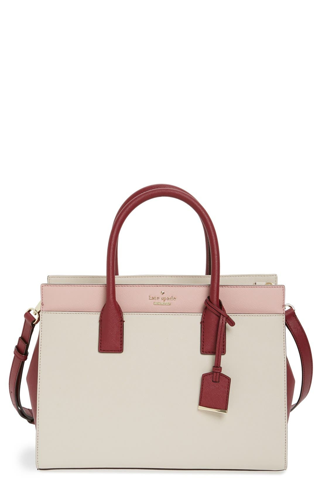 cameron street - candace leather satchel,                             Main thumbnail 21, color,