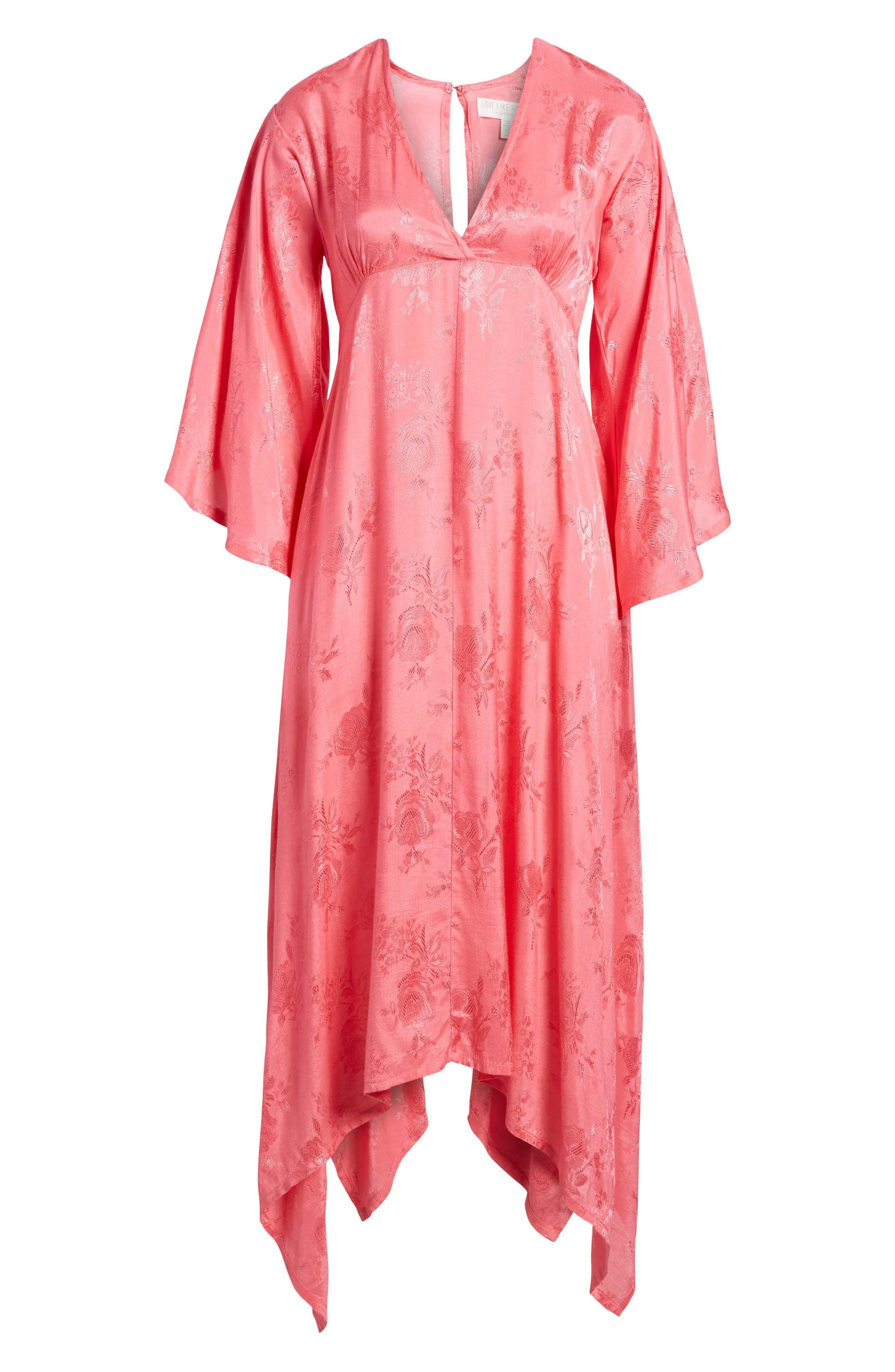 Florence Handkerchief Hem Dress,                             Alternate thumbnail 6, color,                             650