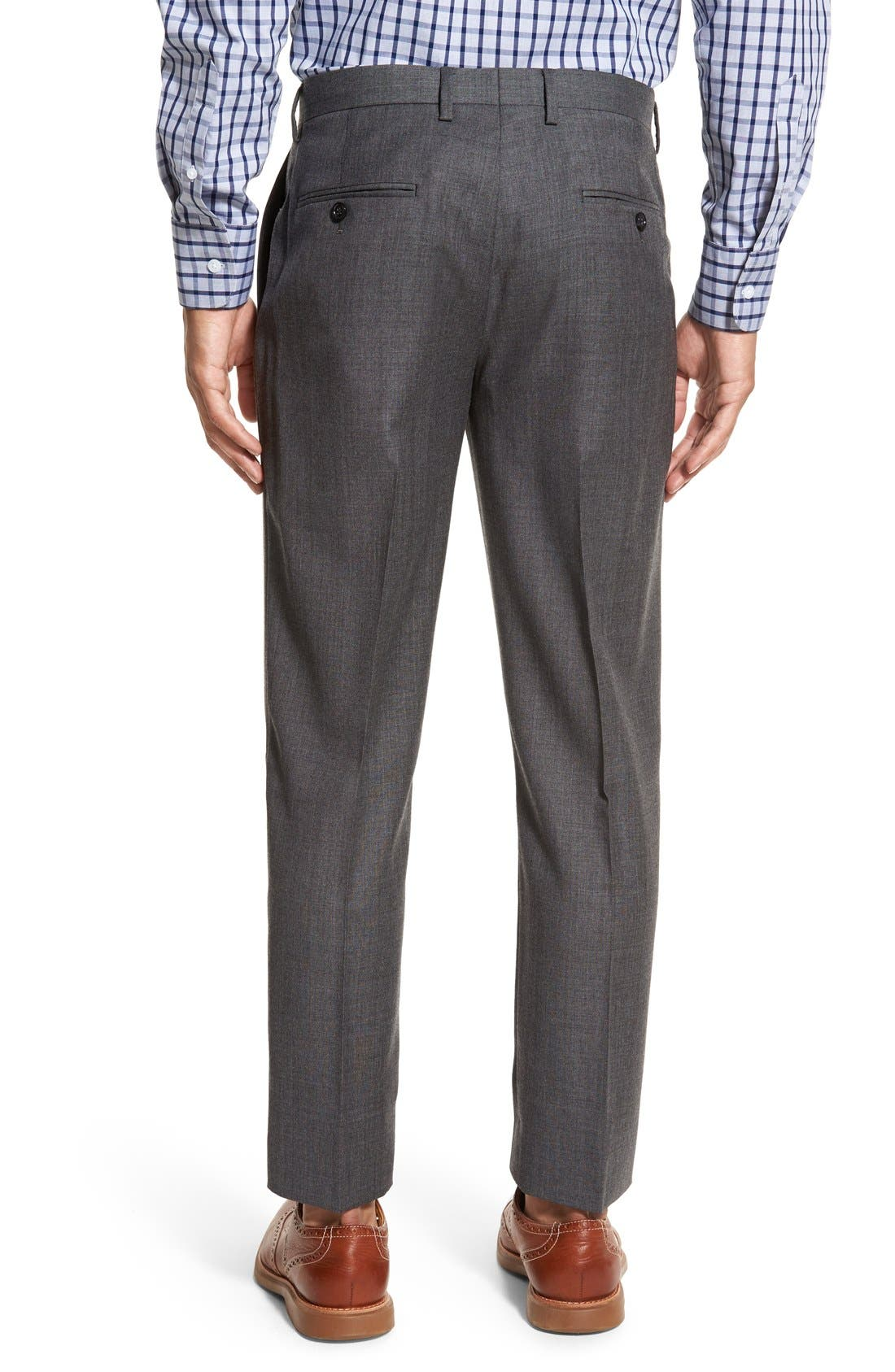 Ludlow Flat Front Solid Wool Trousers,                             Alternate thumbnail 5, color,