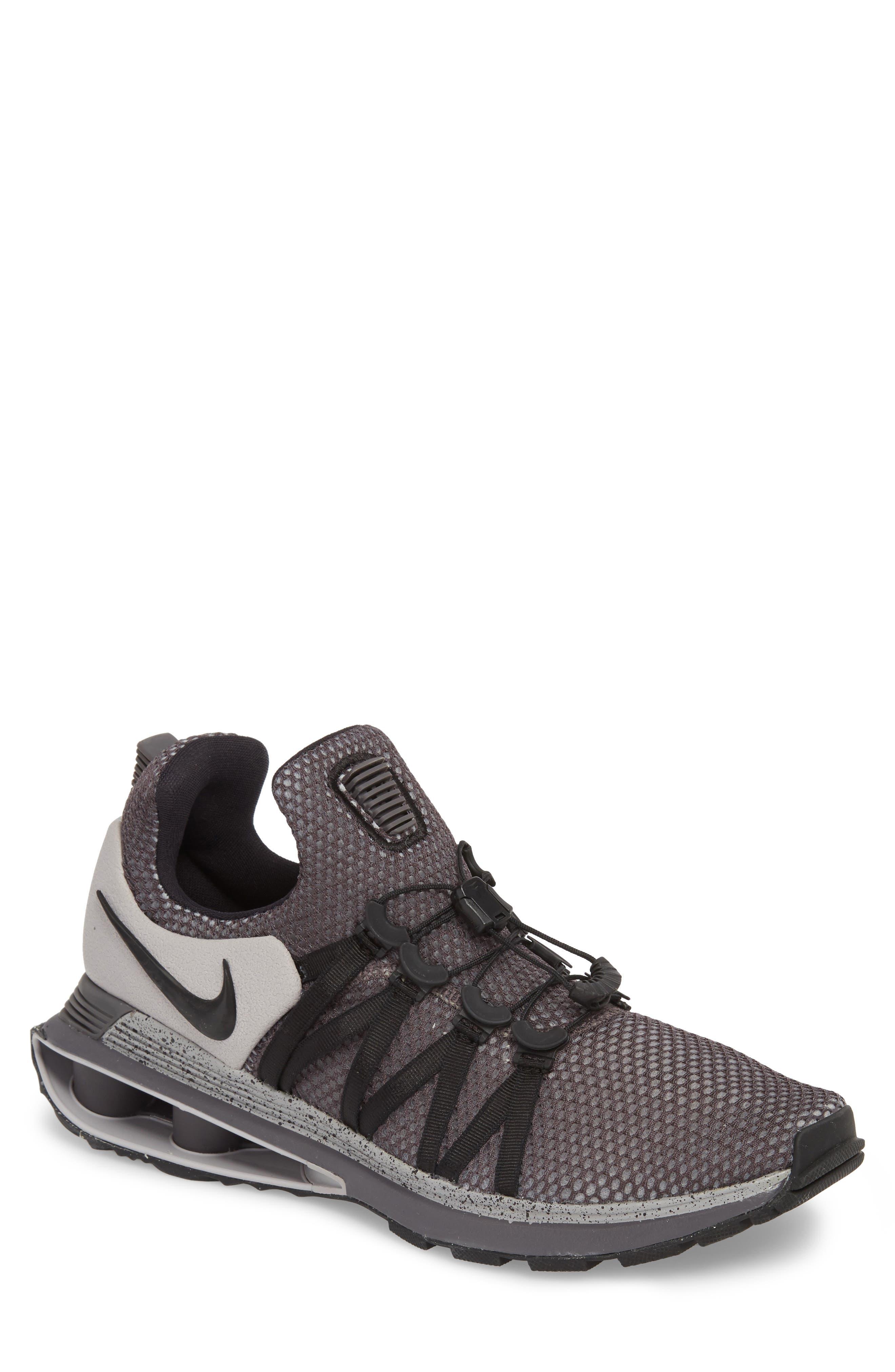 Shox Gravity Sneaker,                         Main,                         color, ATMOSPHERE GREY/ BLACK/ GREY