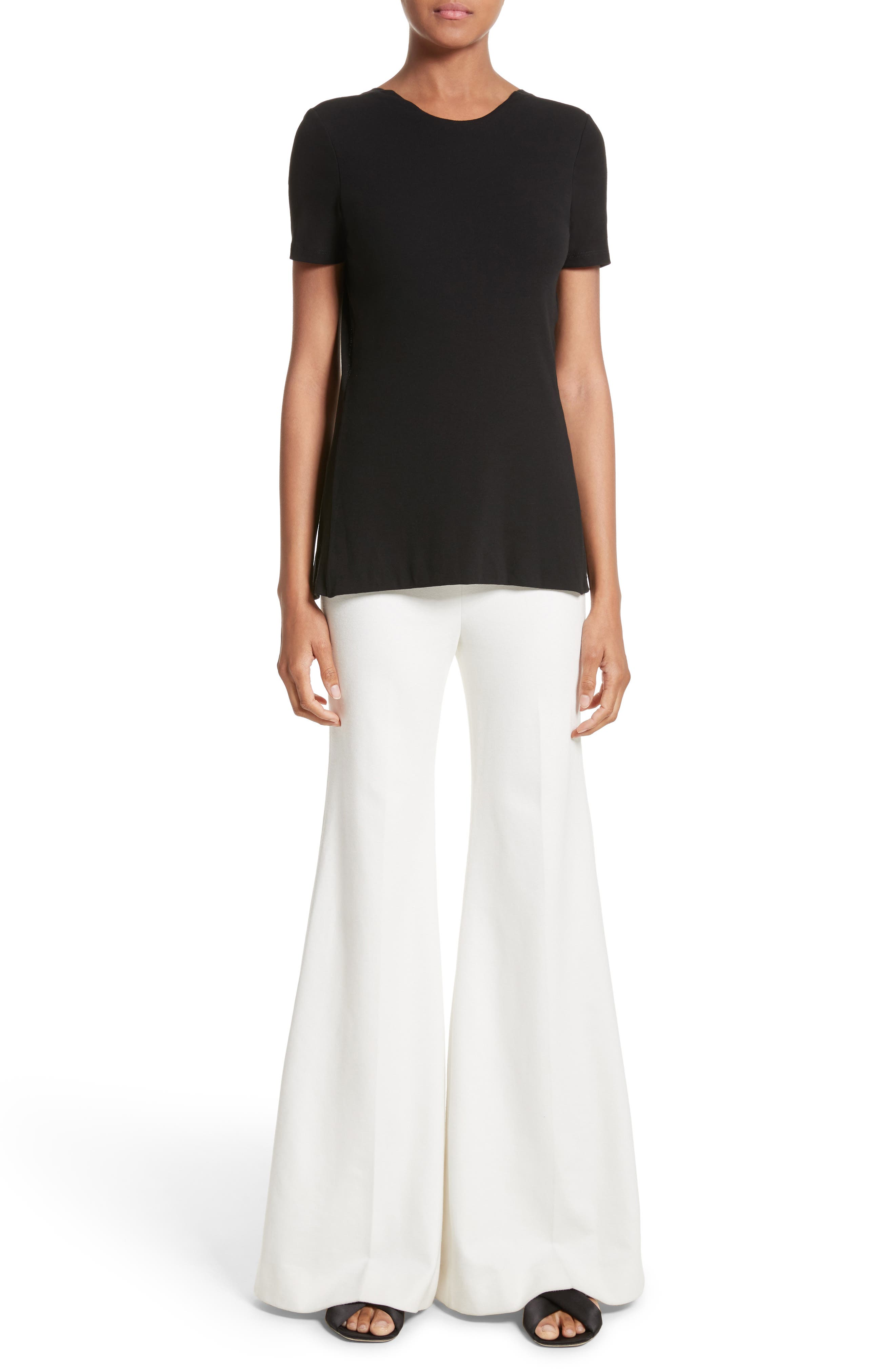 Cotton Jersey Open Back Tee,                             Alternate thumbnail 7, color,                             001