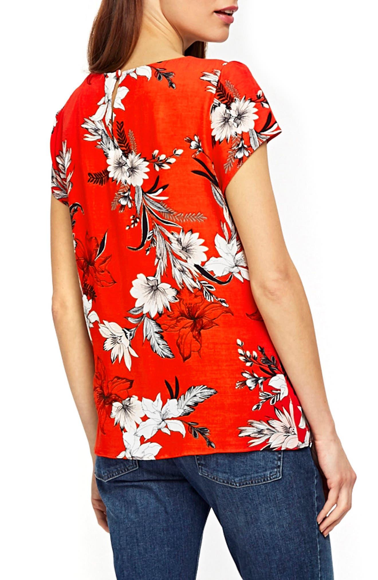 Tropical Print Top,                             Alternate thumbnail 2, color,