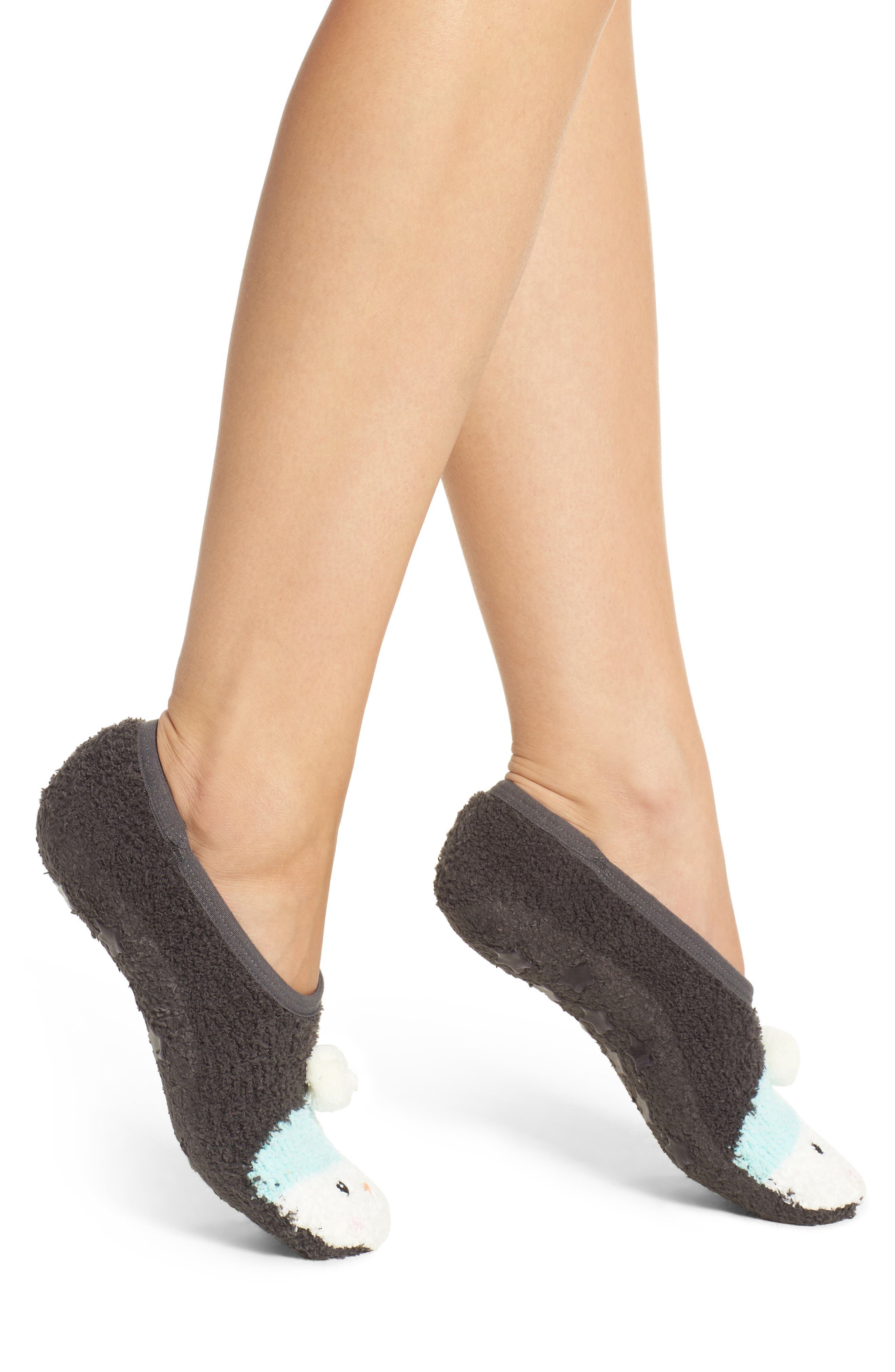 Plush Slipper Socks,                         Main,                         color, 020