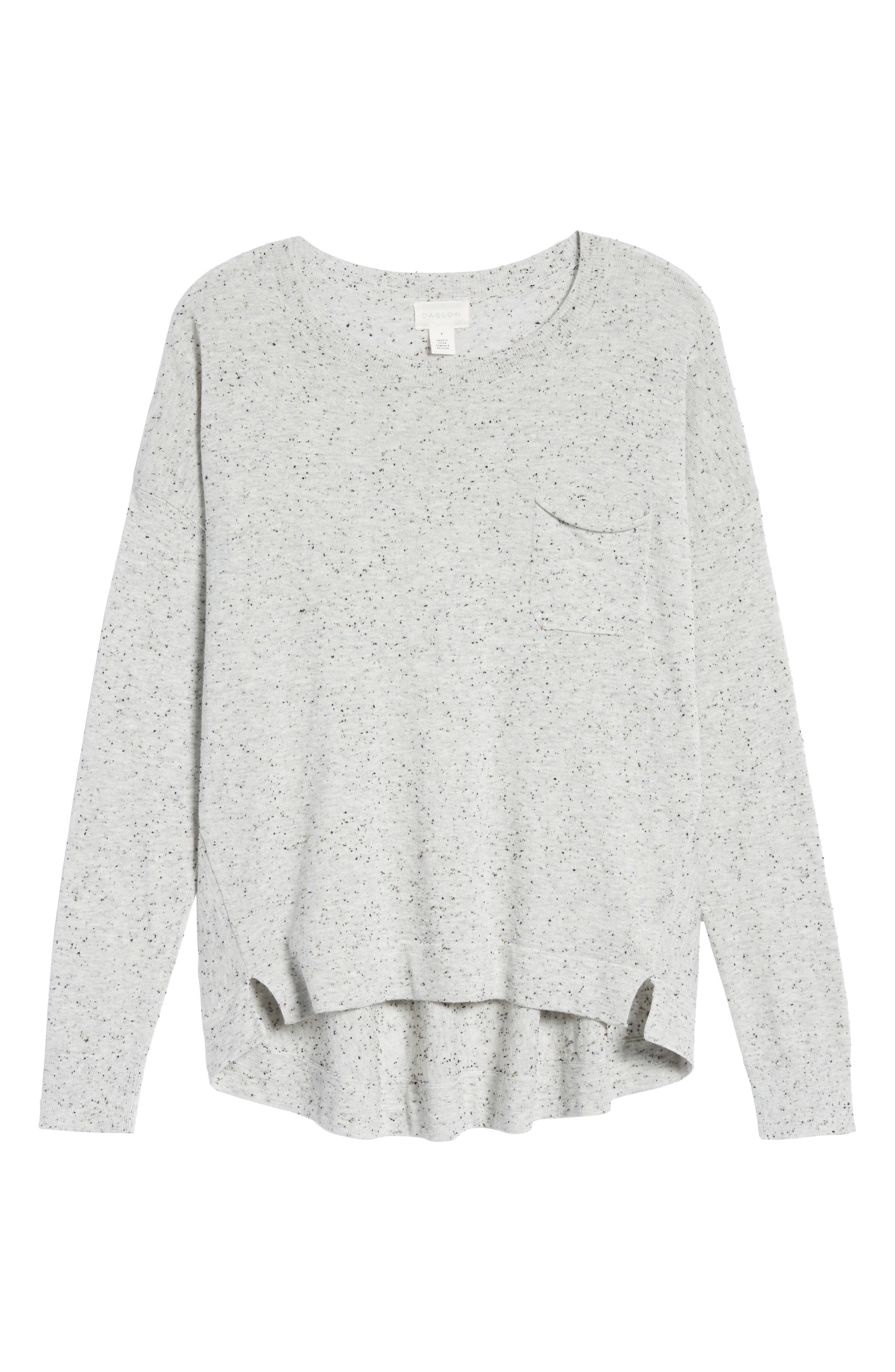 Pleat Back High/Low Crewneck Sweater,                             Alternate thumbnail 37, color,
