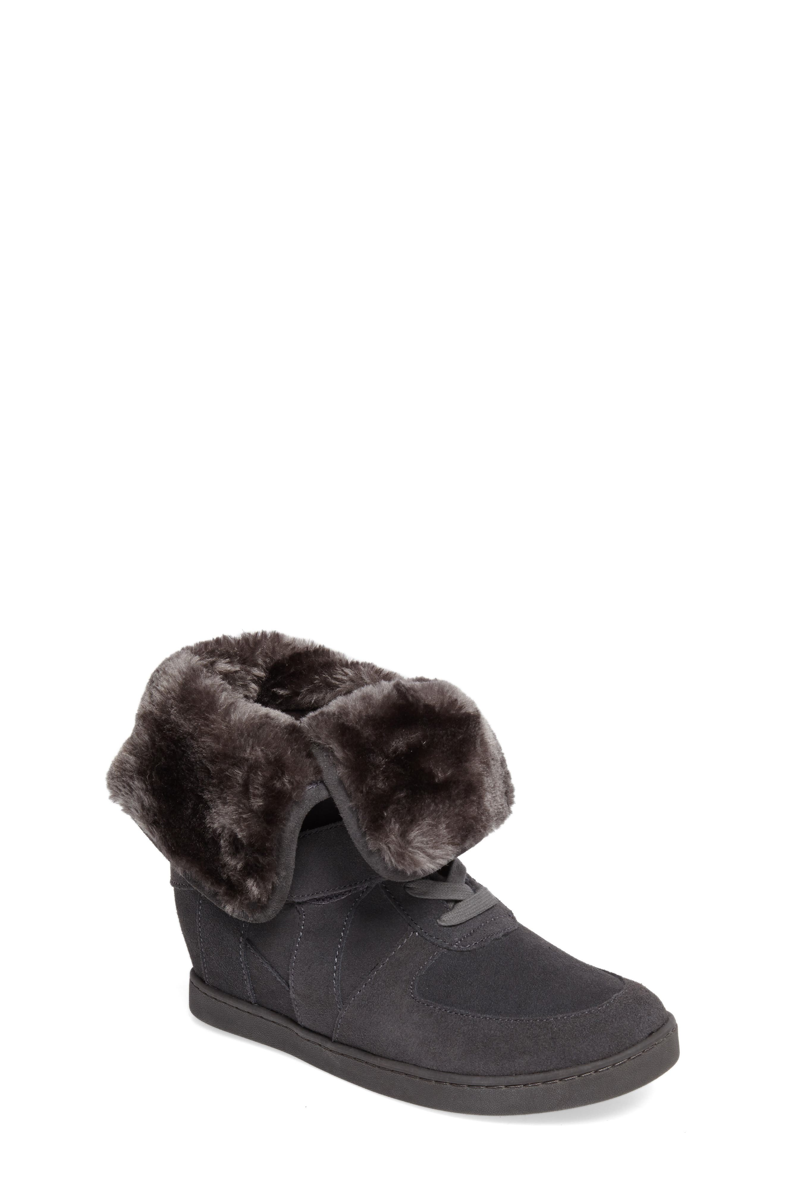 Boogie Beaver Faux Fur Cuffed Bootie,                             Main thumbnail 1, color,                             052