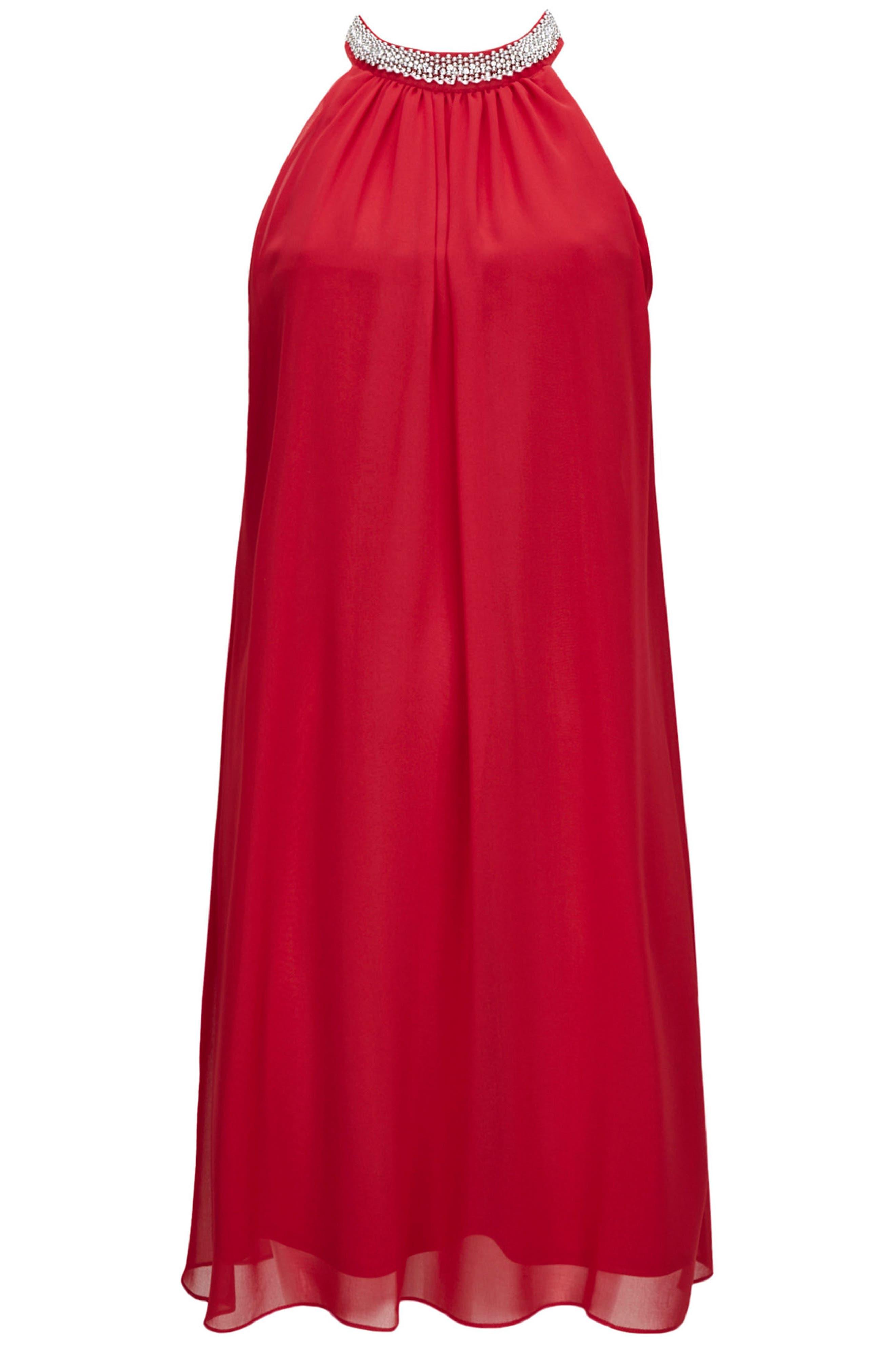 Embellished Neck Shift Dress,                             Alternate thumbnail 8, color,