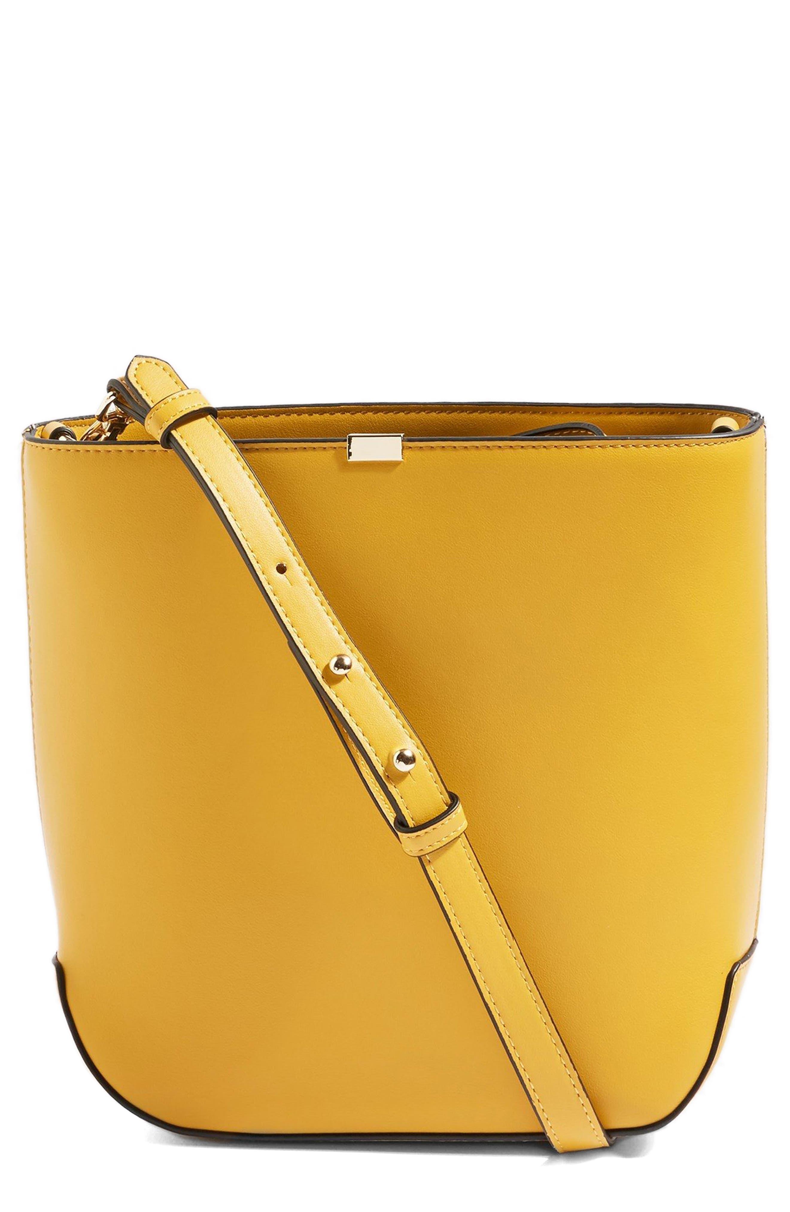 Romy Bucket Shoulder Handbag,                             Main thumbnail 1, color,                             YELLOW MULTI