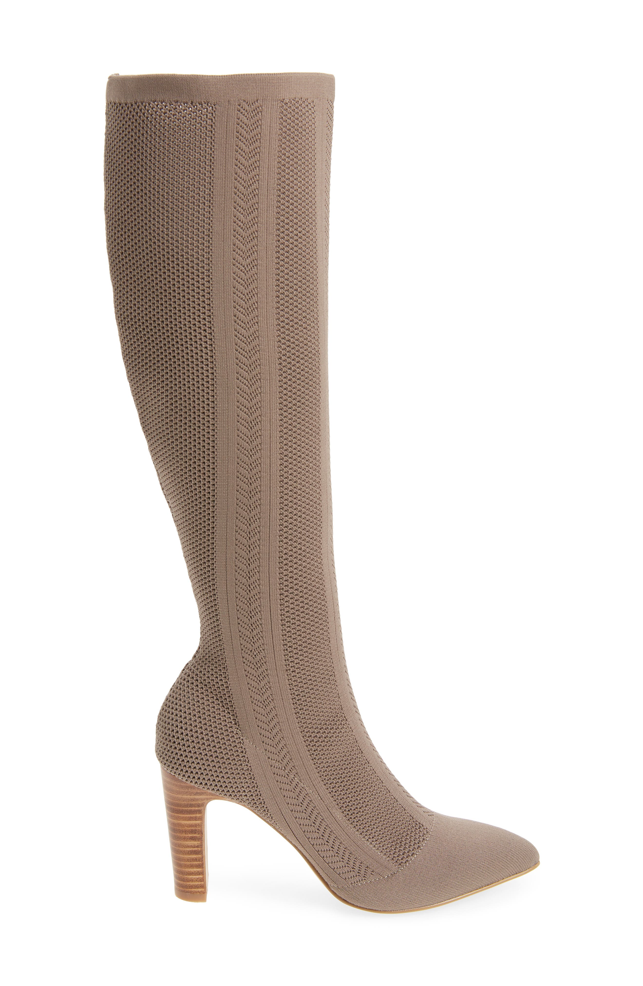 Davis Knit Boot,                             Alternate thumbnail 3, color,                             TAUPE FABRIC