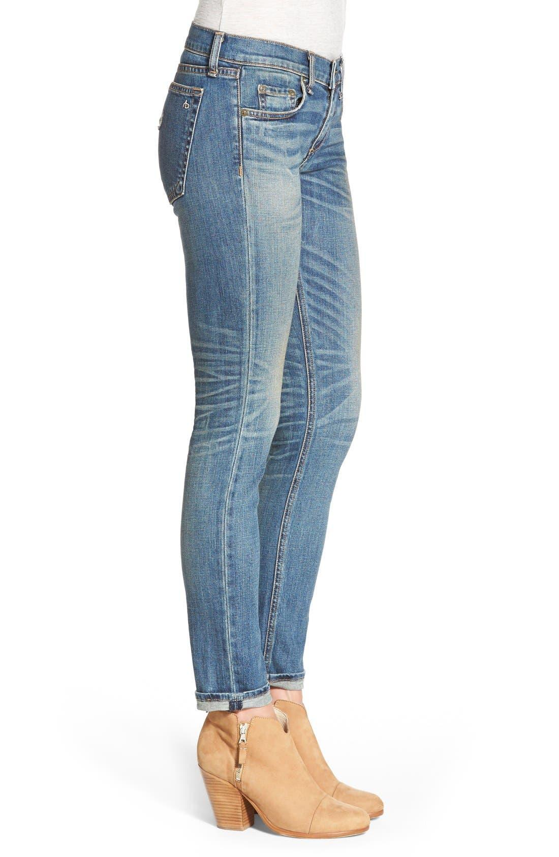 'The Dre' Slim Fit Boyfriend Jeans,                             Alternate thumbnail 4, color,                             402