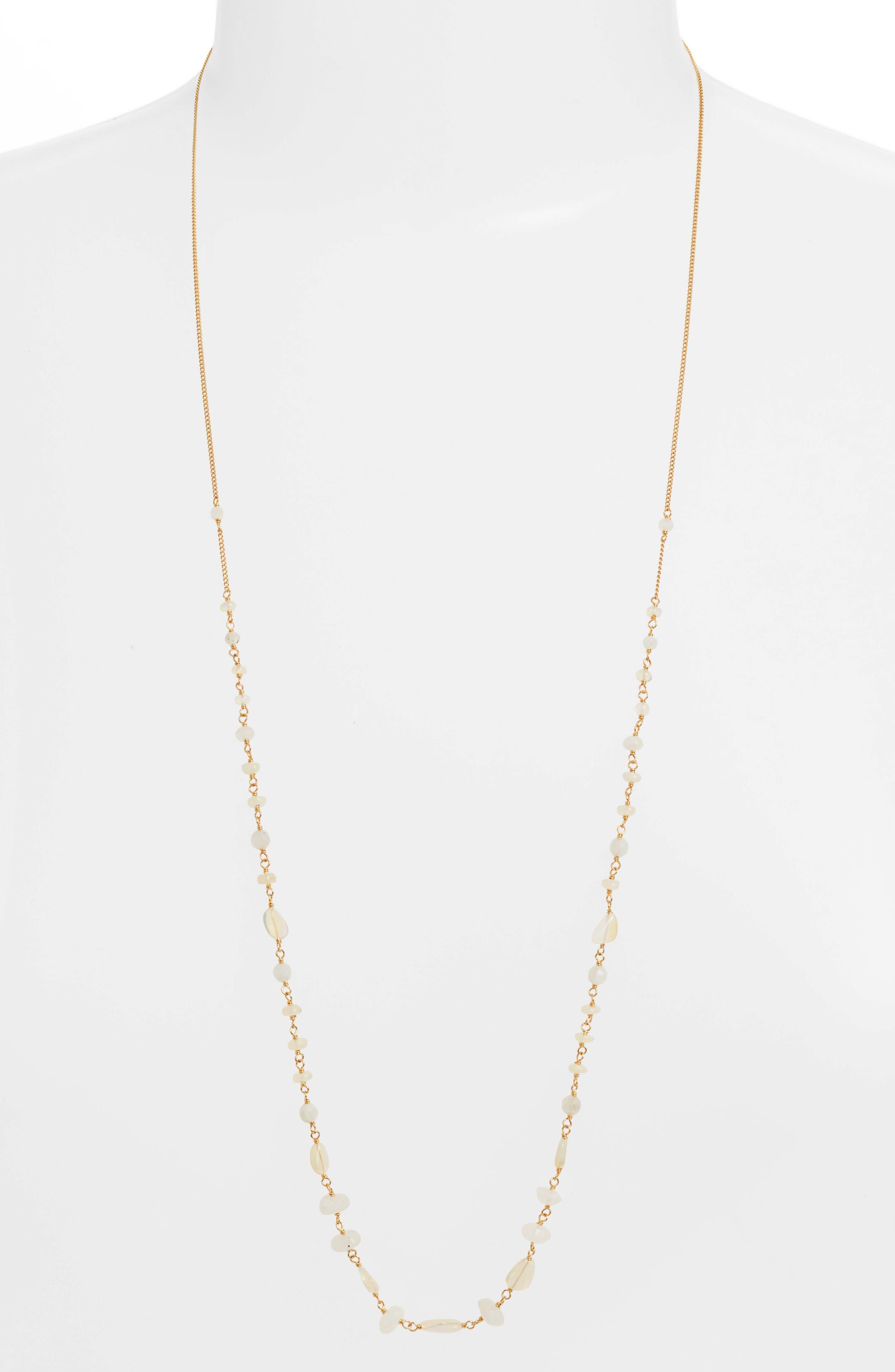 Opal Layering Necklace,                             Main thumbnail 1, color,                             ETHIOPIAN OPAL