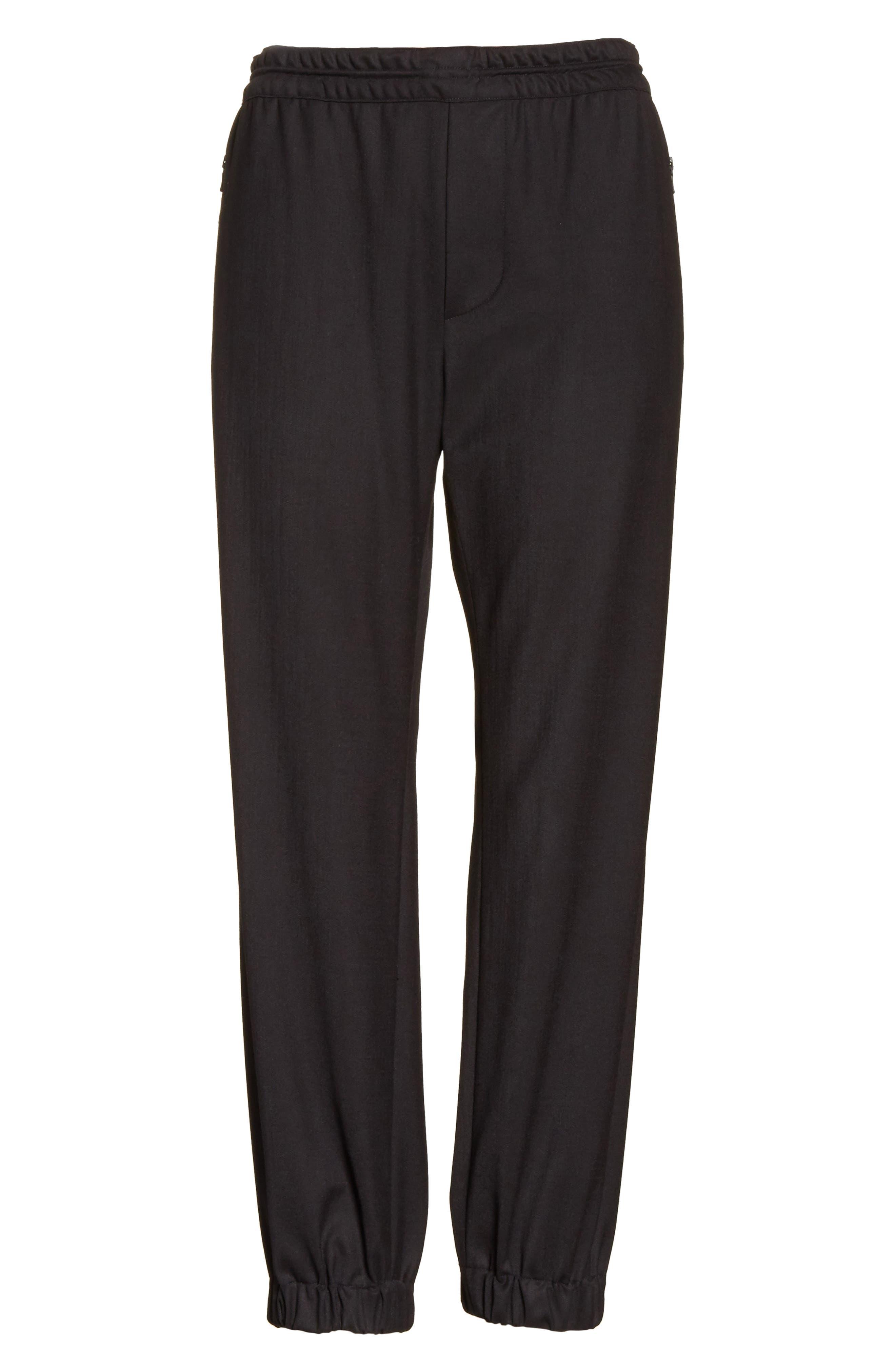 Italian Wool Gabardine Jogger Pants,                             Alternate thumbnail 6, color,