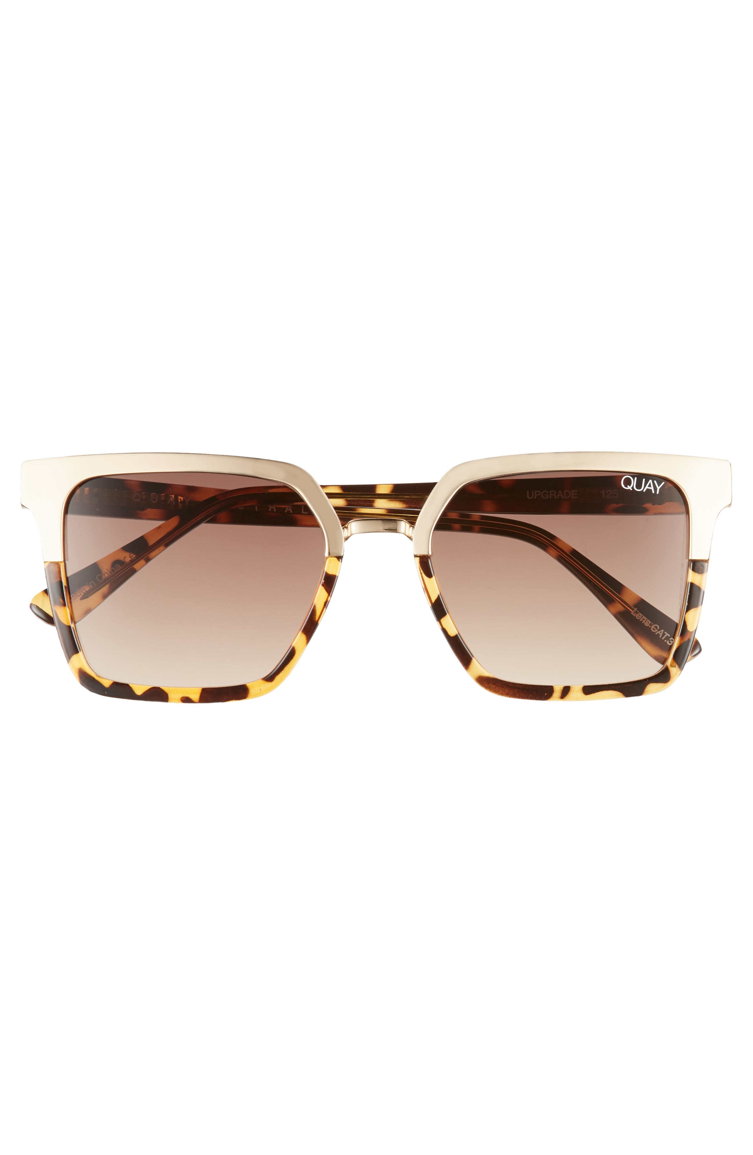 x Jaclyn Hill Upgrade 55mm Square Sunglasses,                             Alternate thumbnail 4, color,                             TORT GOLD / BROWN