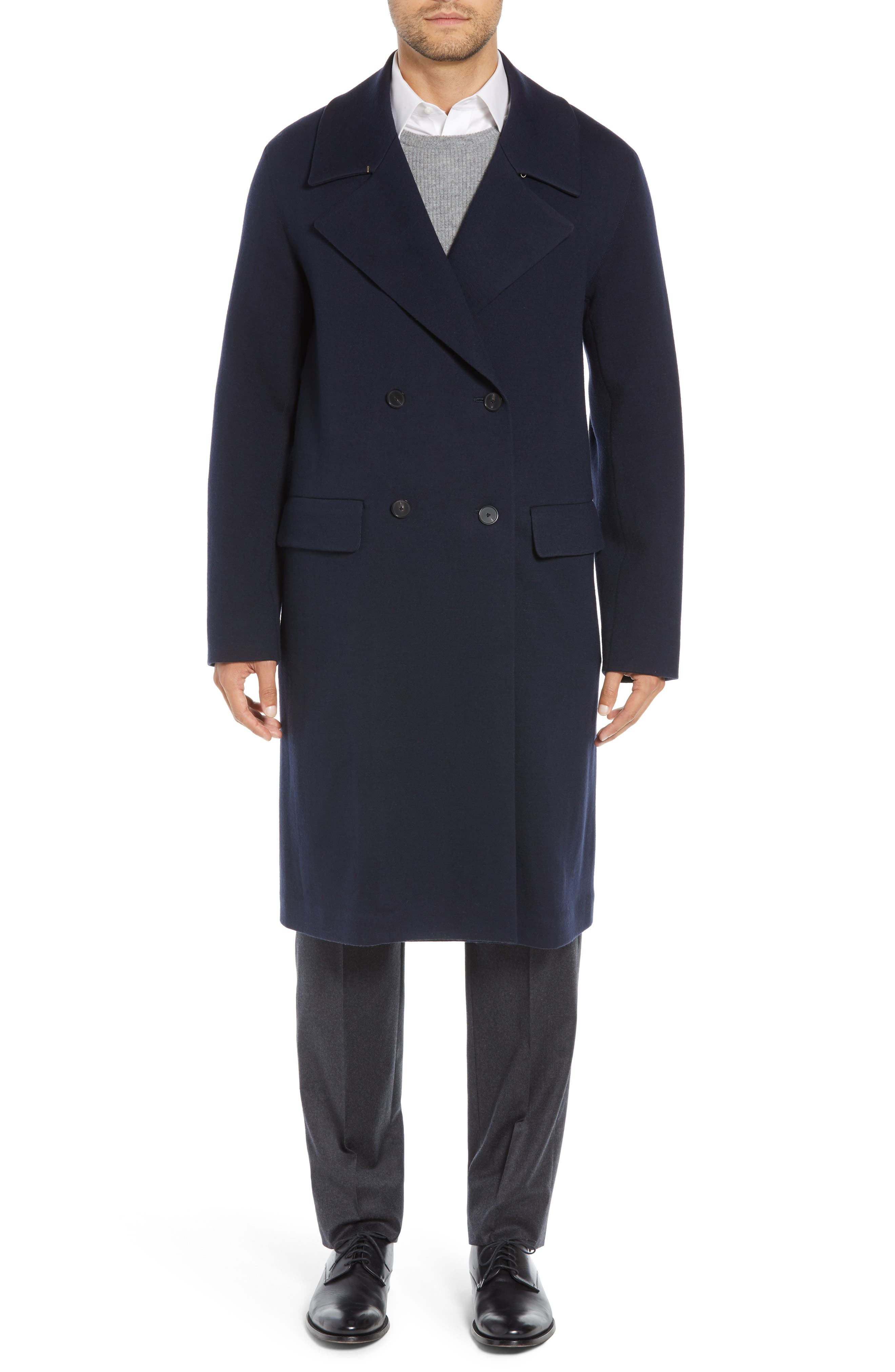 Wool Blend Chesterfield Coat,                             Main thumbnail 1, color,                             MIDNIGHT