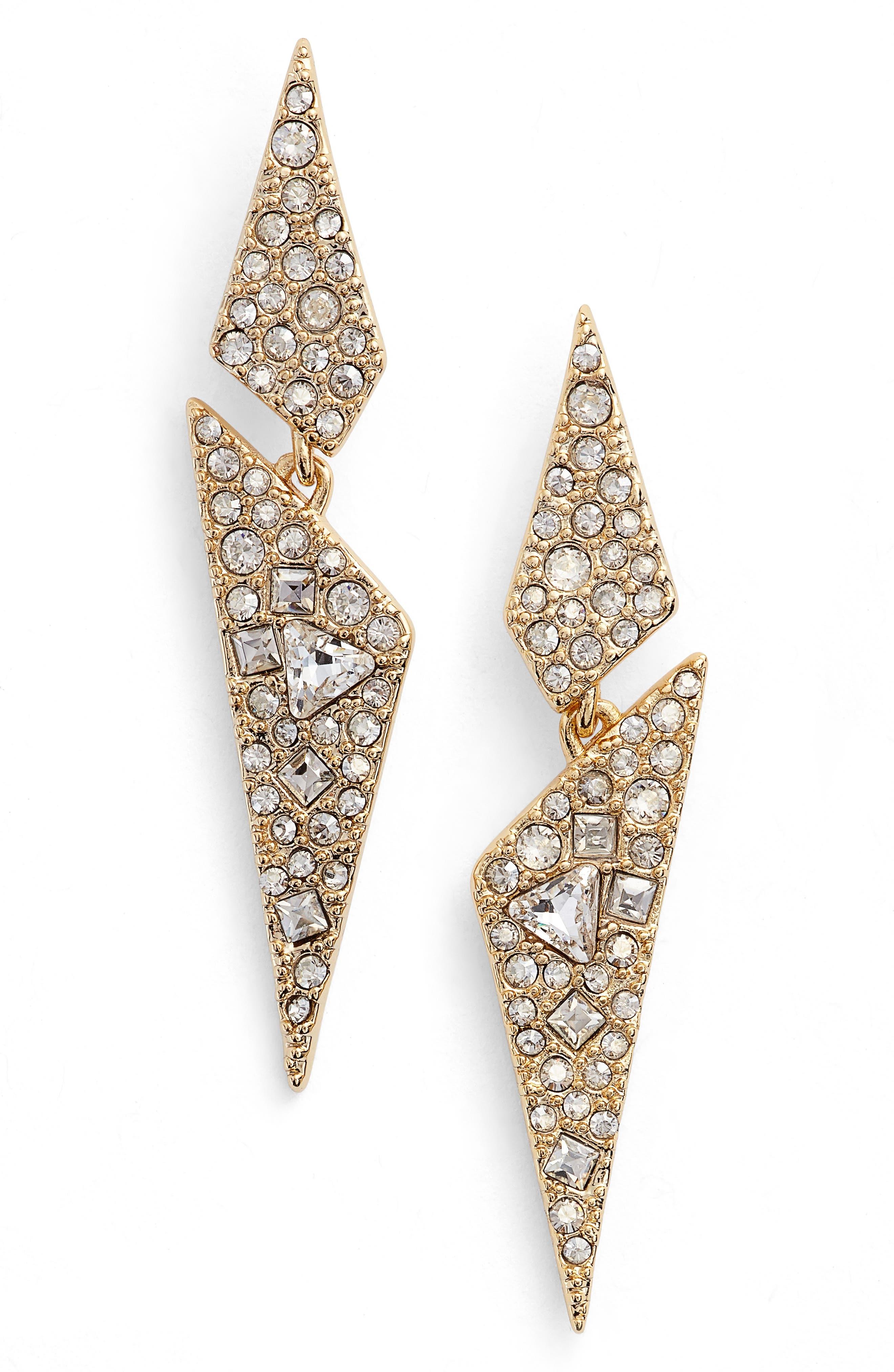 Crystal Encrusted Dangling Drop Earrings,                         Main,                         color, 710