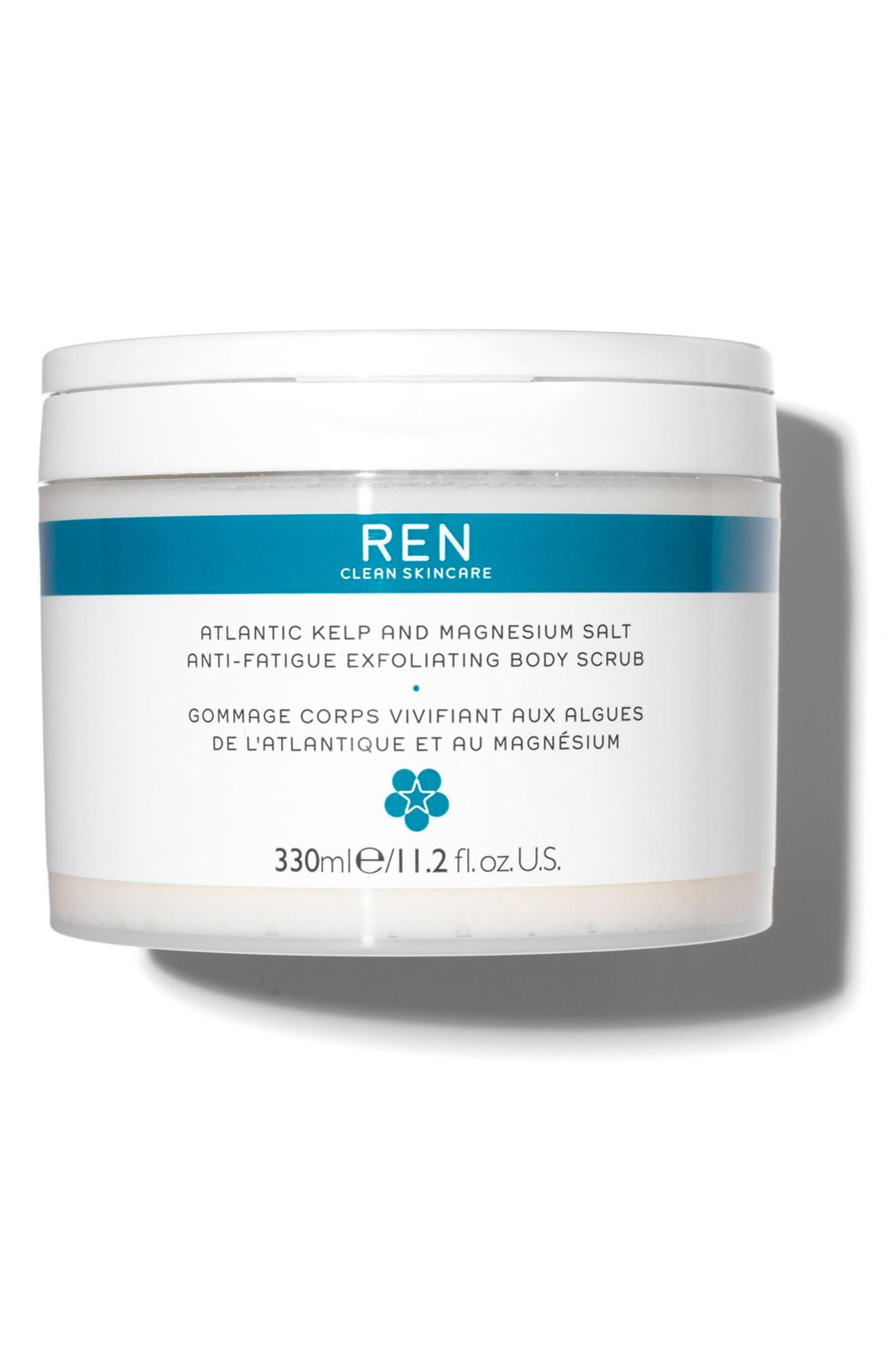 SPACE.NK.apothecary REN Atlantic Kelp and Magnesium Salt Anti-Fatigue Exfoliating Body Scrub,                             Main thumbnail 1, color,                             000