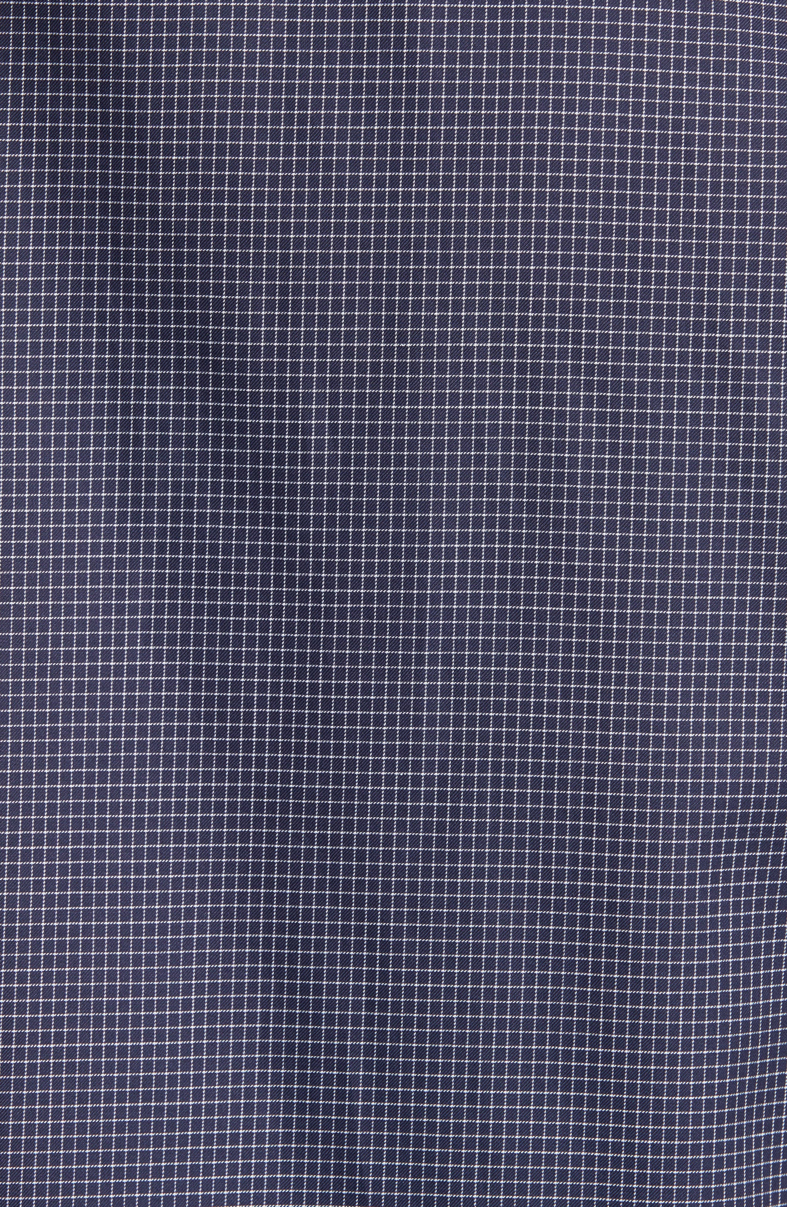 Slim Fit Grid Print Sport Shirt,                             Alternate thumbnail 5, color,                             484