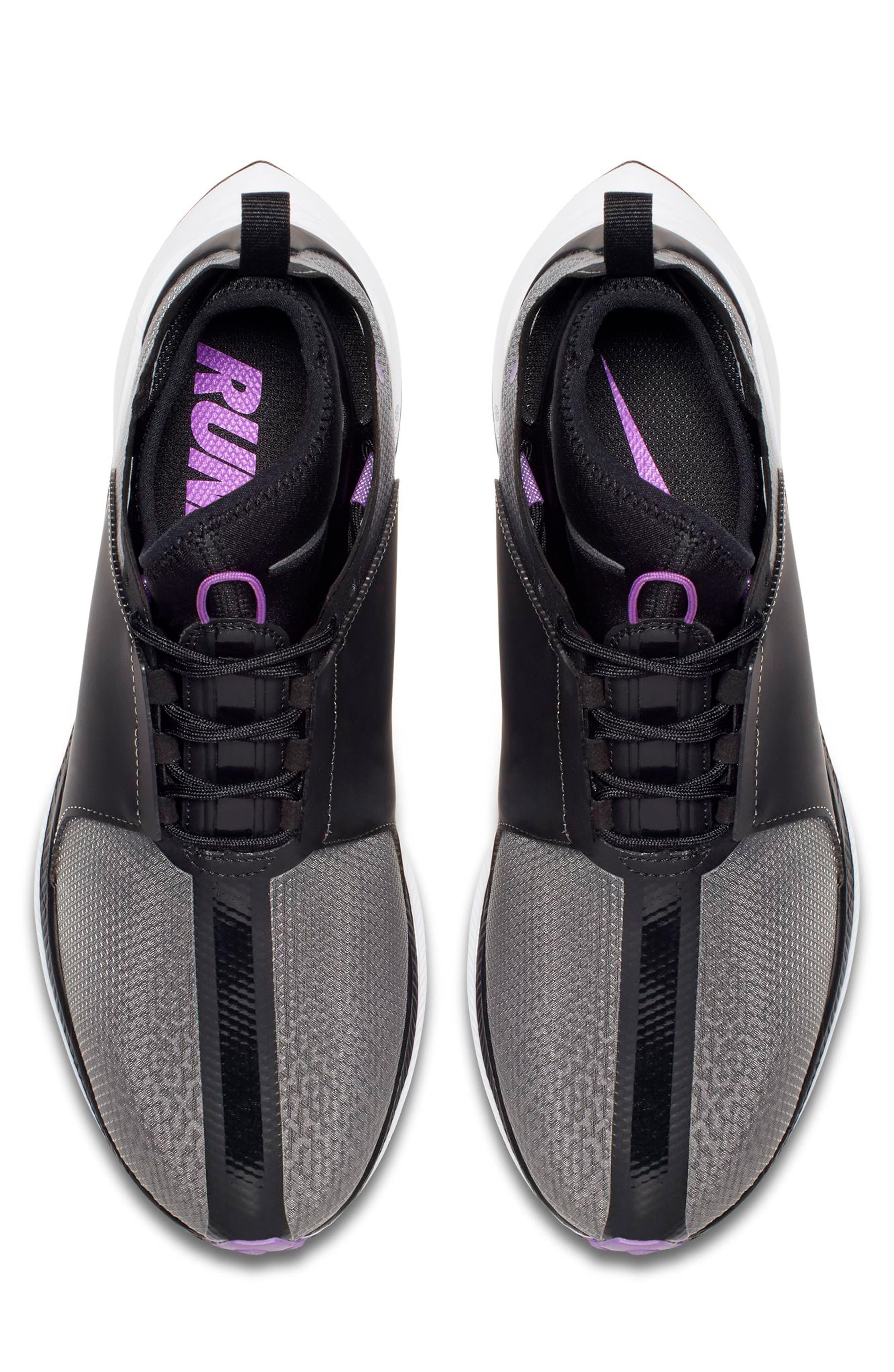 Zoom Pegasus Turbo XX Running Shoe,                             Alternate thumbnail 4, color,                             BLACK/ BLACK/ WHITE