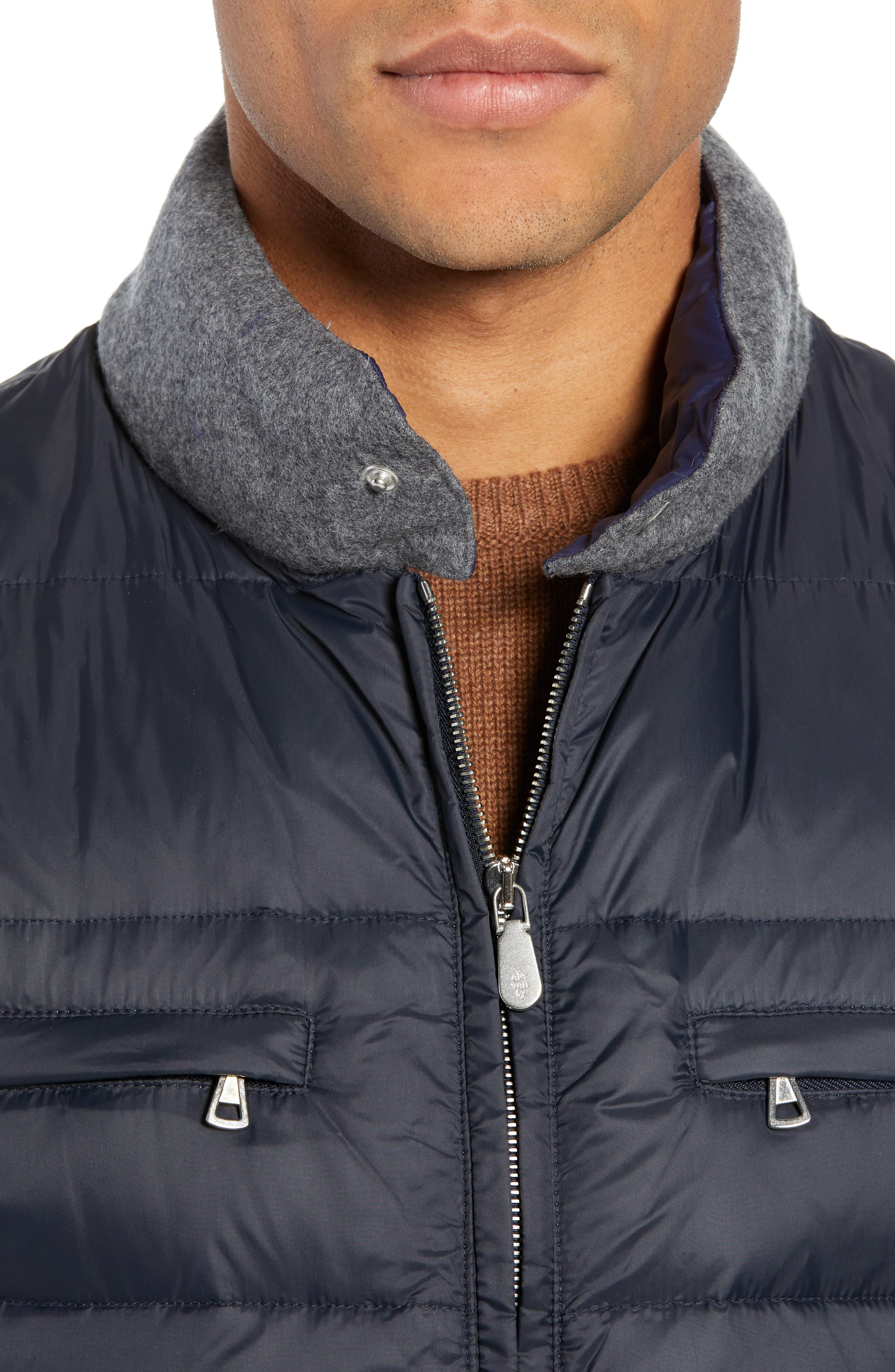 Quilted Vest,                             Alternate thumbnail 4, color,                             NAVY