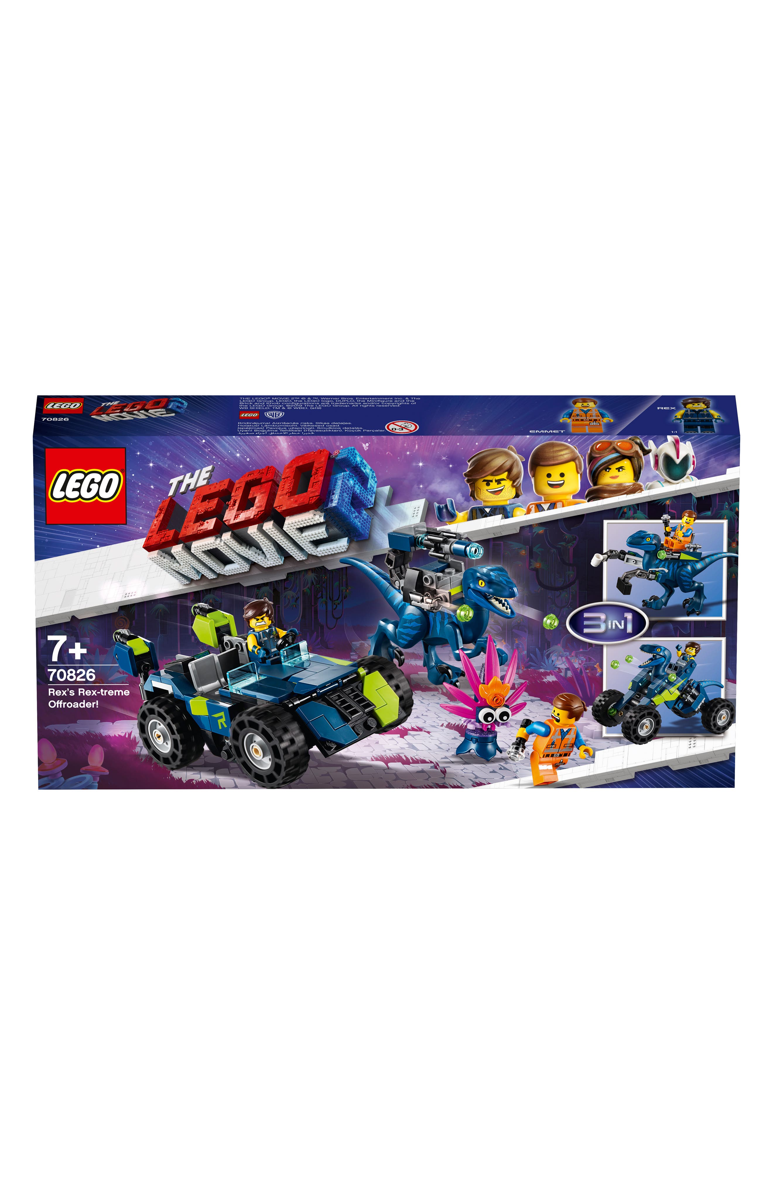 LEGO<SUP>®</SUP>,                             The LEGO<sup>®</sup> Movie 2 Rex's 3-in-1 Rex-treme Offroader Toy - 70826,                             Alternate thumbnail 2, color,                             960