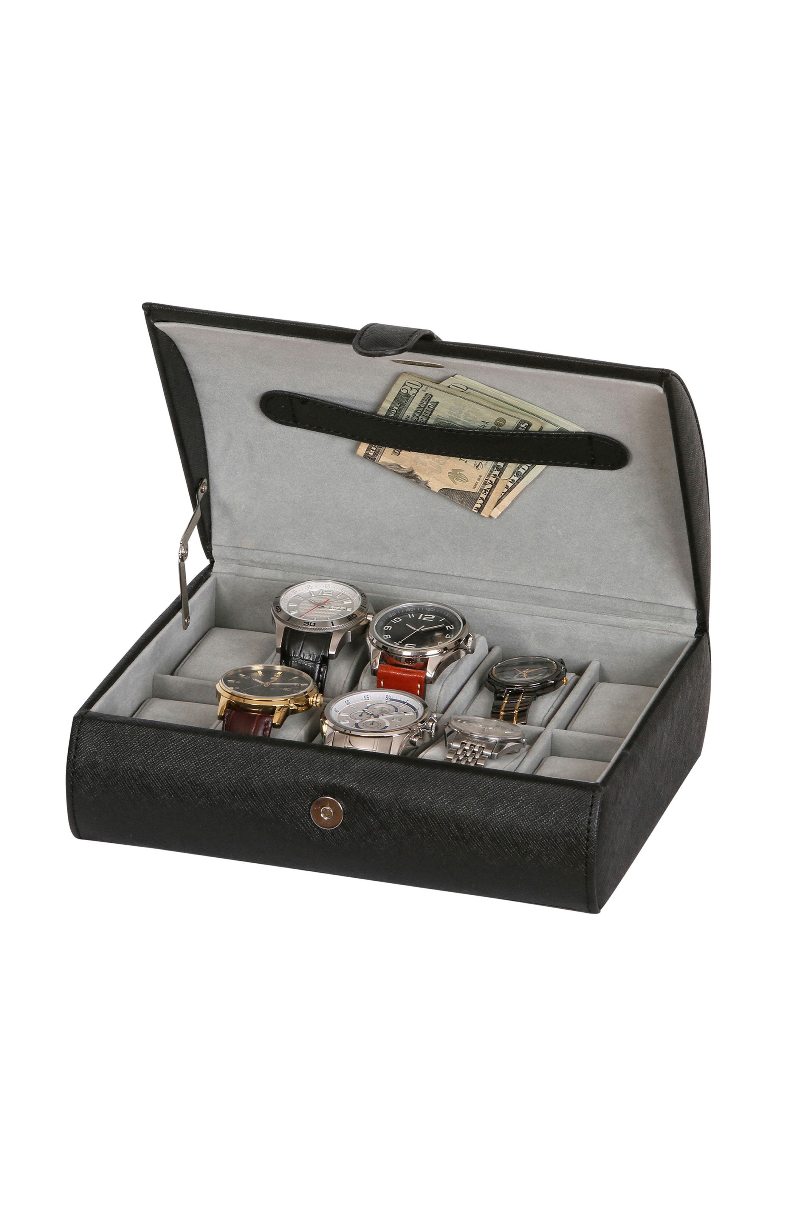 Parker Watch Box,                             Alternate thumbnail 4, color,                             BLACK