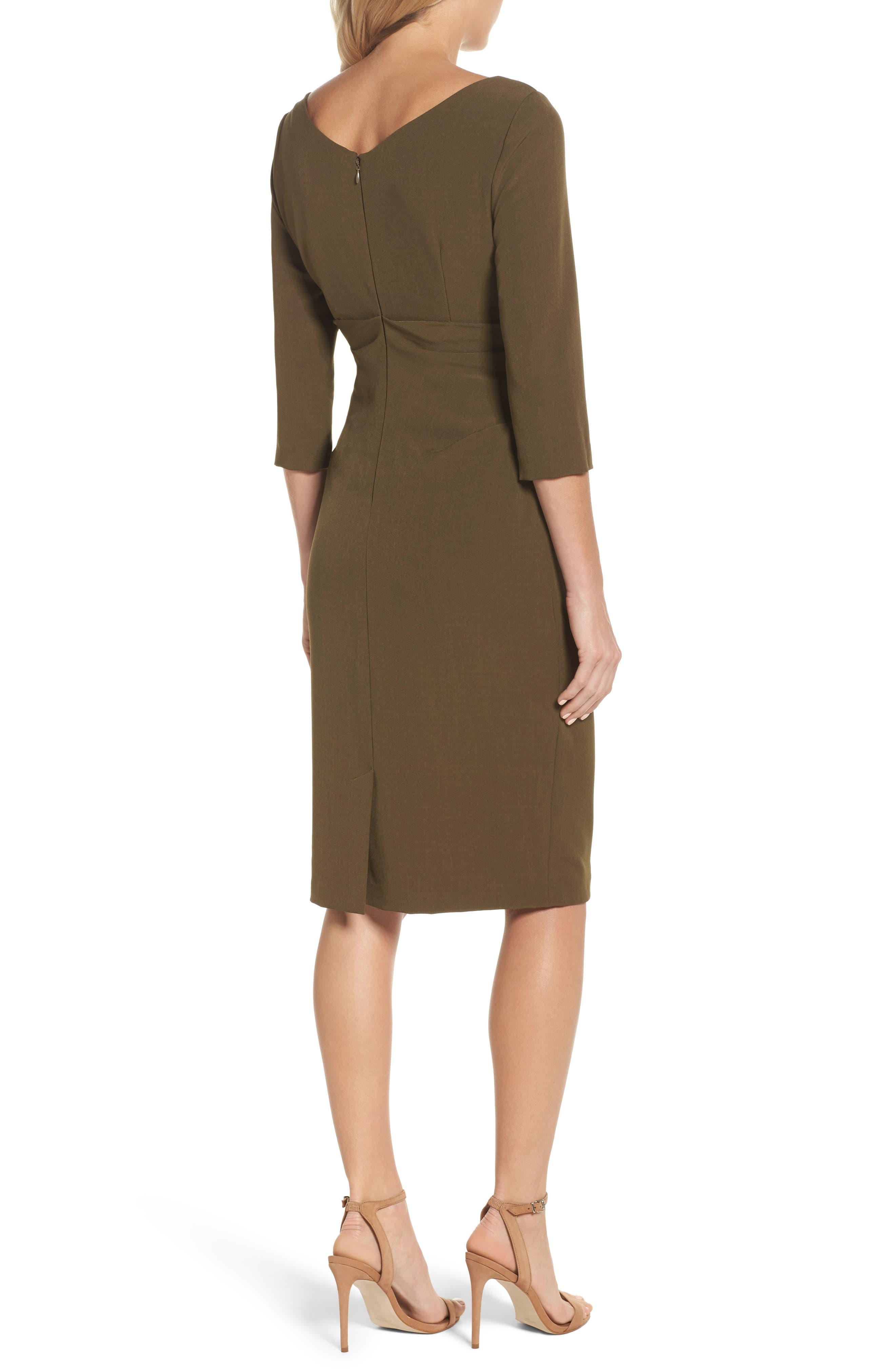 Drape Neck Midi Dress,                             Alternate thumbnail 2, color,                             371