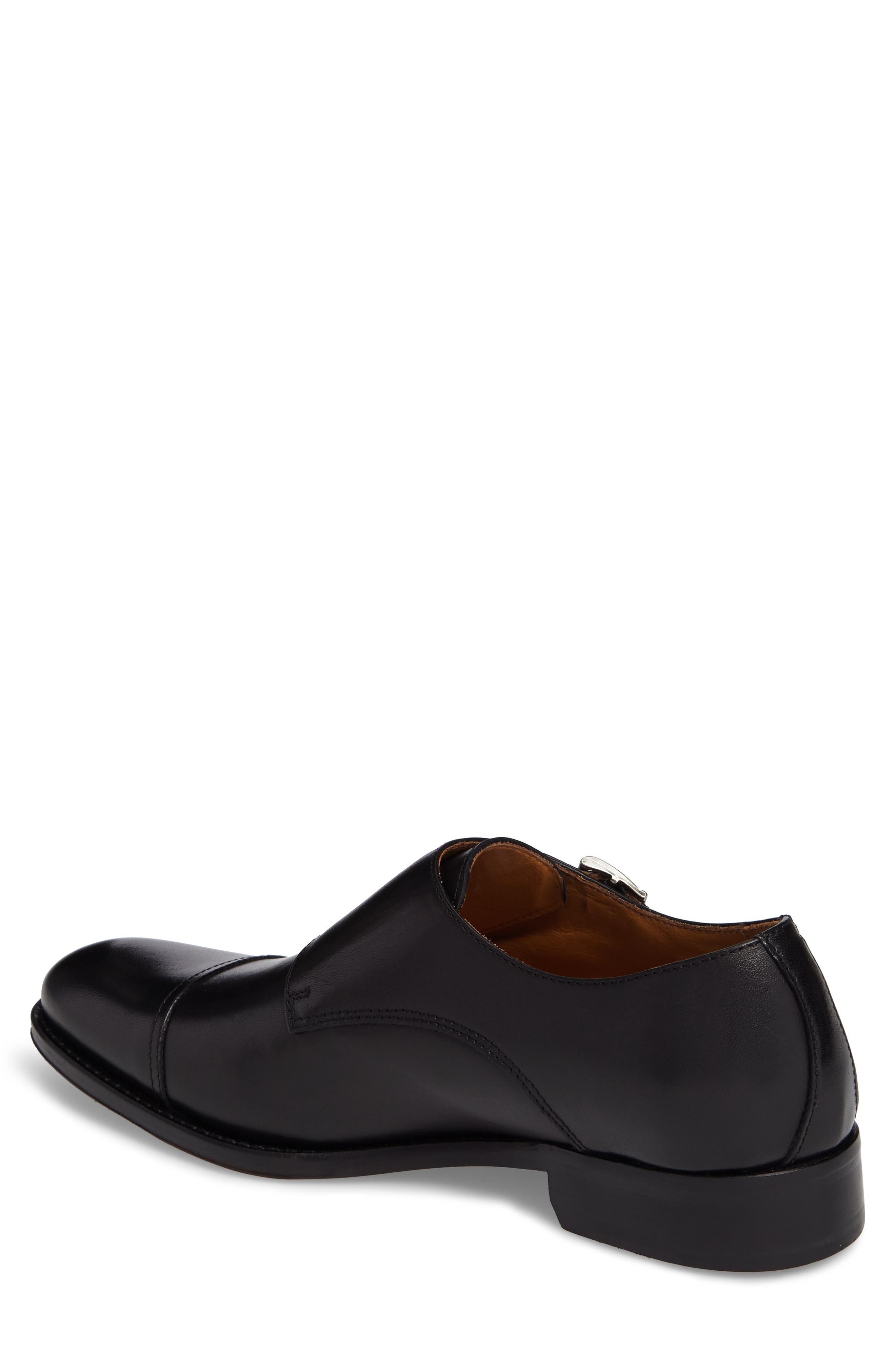 Stratton Double Monk Strap Shoe,                             Alternate thumbnail 2, color,                             001