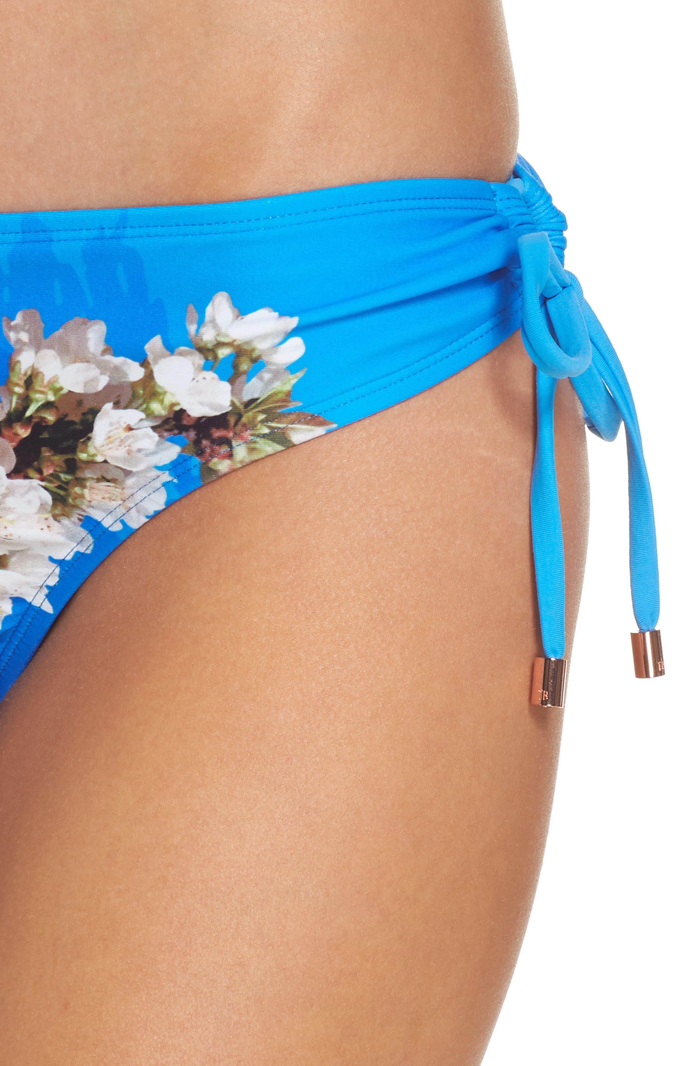 Harmony Side Tie Bikini Bottoms,                             Alternate thumbnail 4, color,                             430