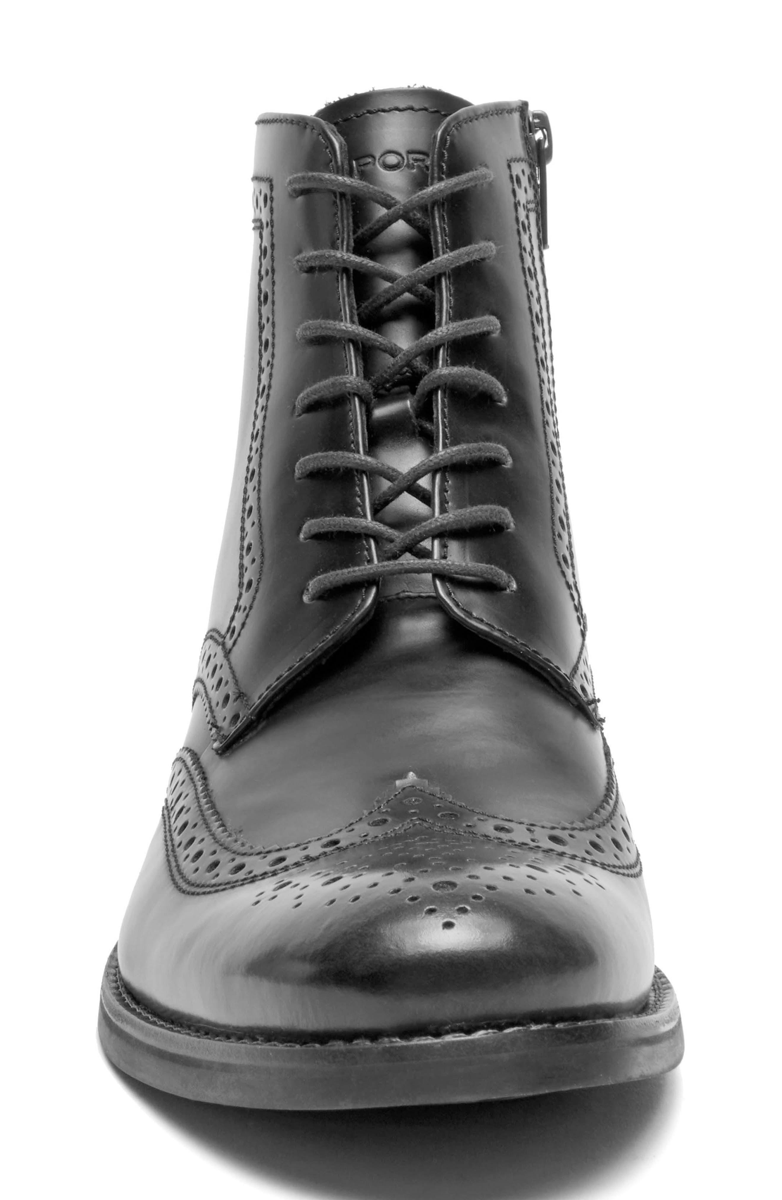 Wyat Wingtip Boot,                             Alternate thumbnail 4, color,                             002