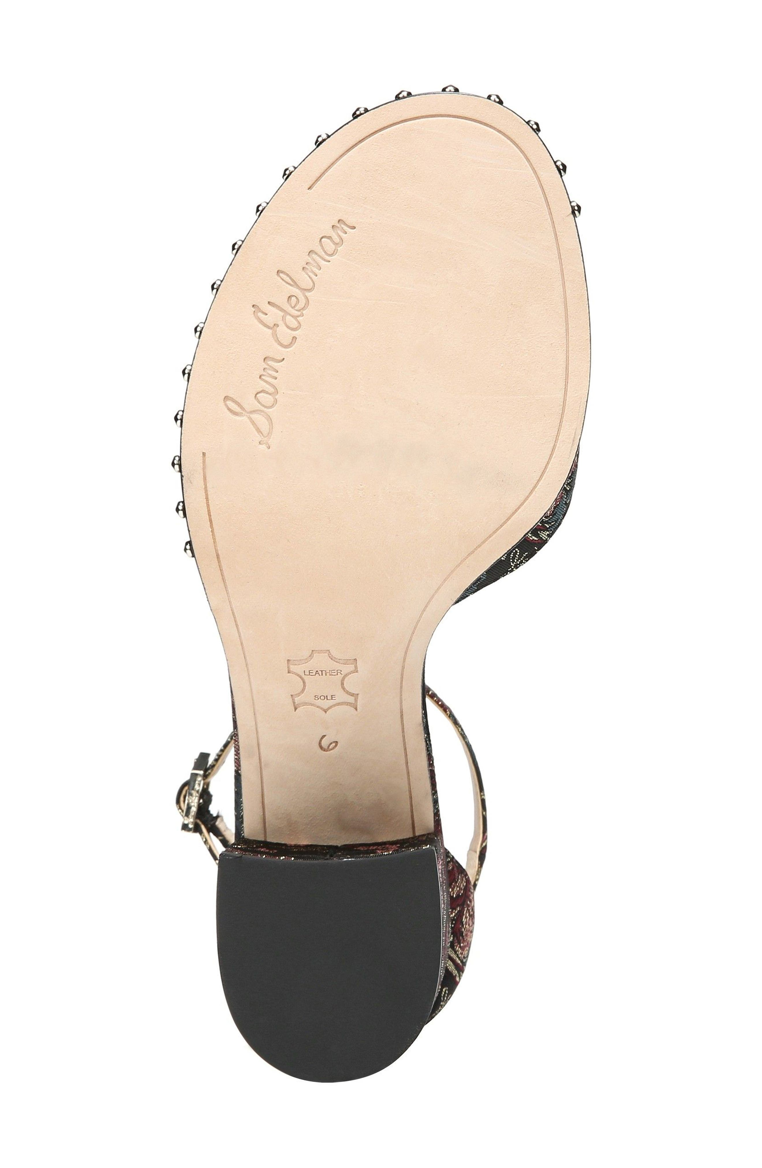 Susie Ankle Strap Sandal,                             Alternate thumbnail 6, color,                             002