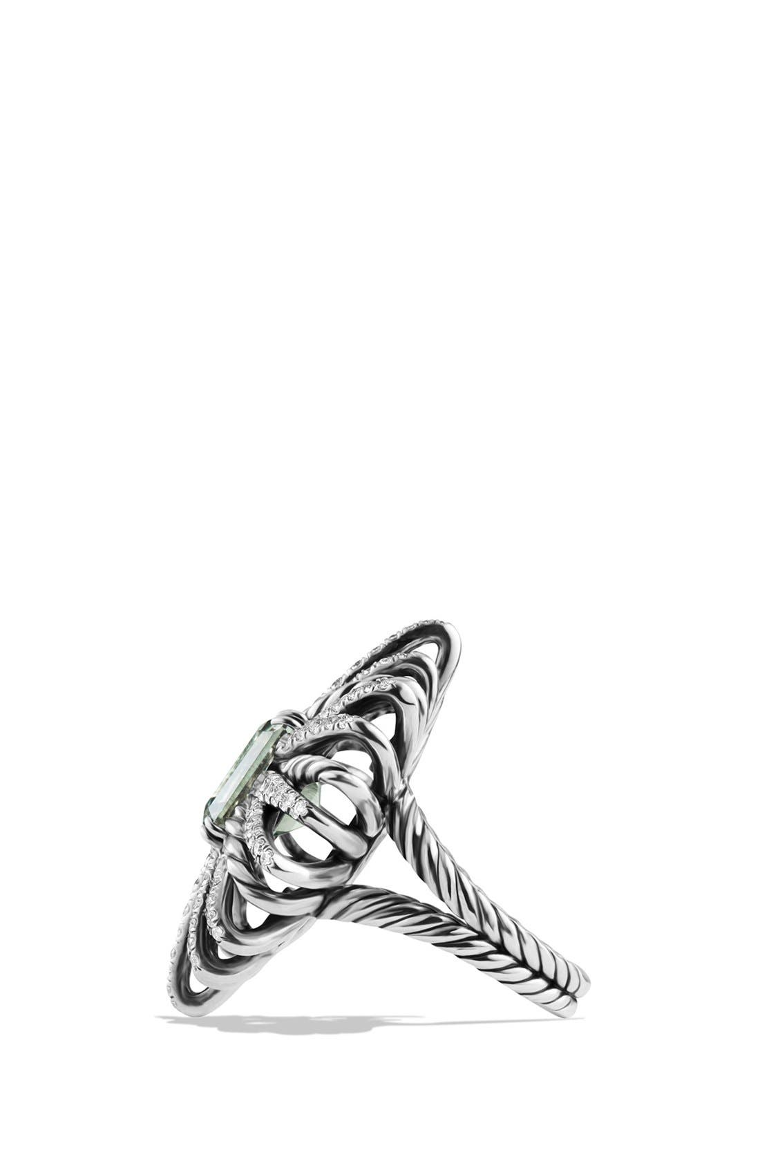 'Starburst' Ring with Semiprecious Stone and Diamonds,                             Alternate thumbnail 4, color,                             PRASIOLITE