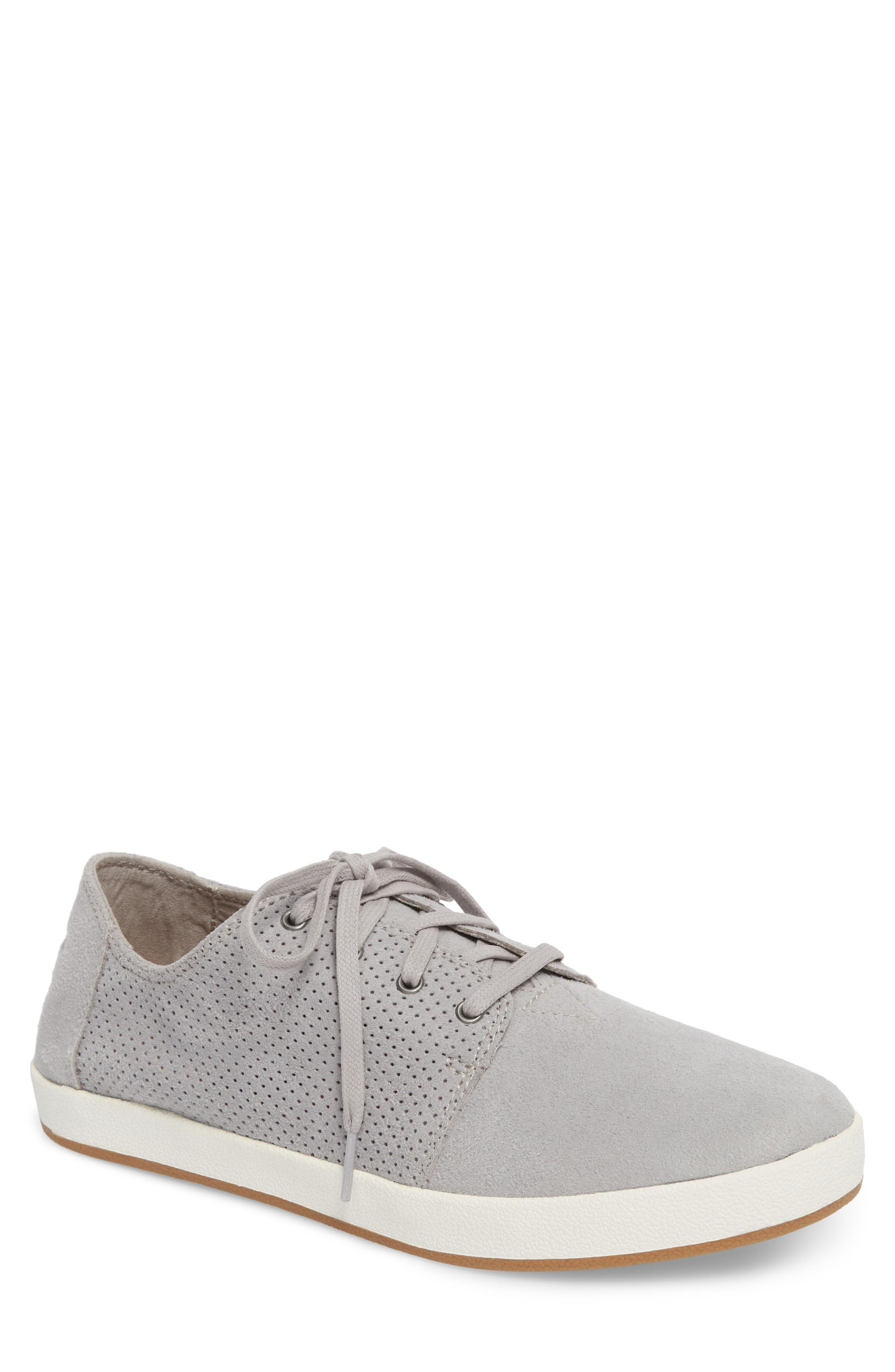 Payton Perforated Sneaker,                         Main,                         color, DRIZZLE GREY PERFORATED