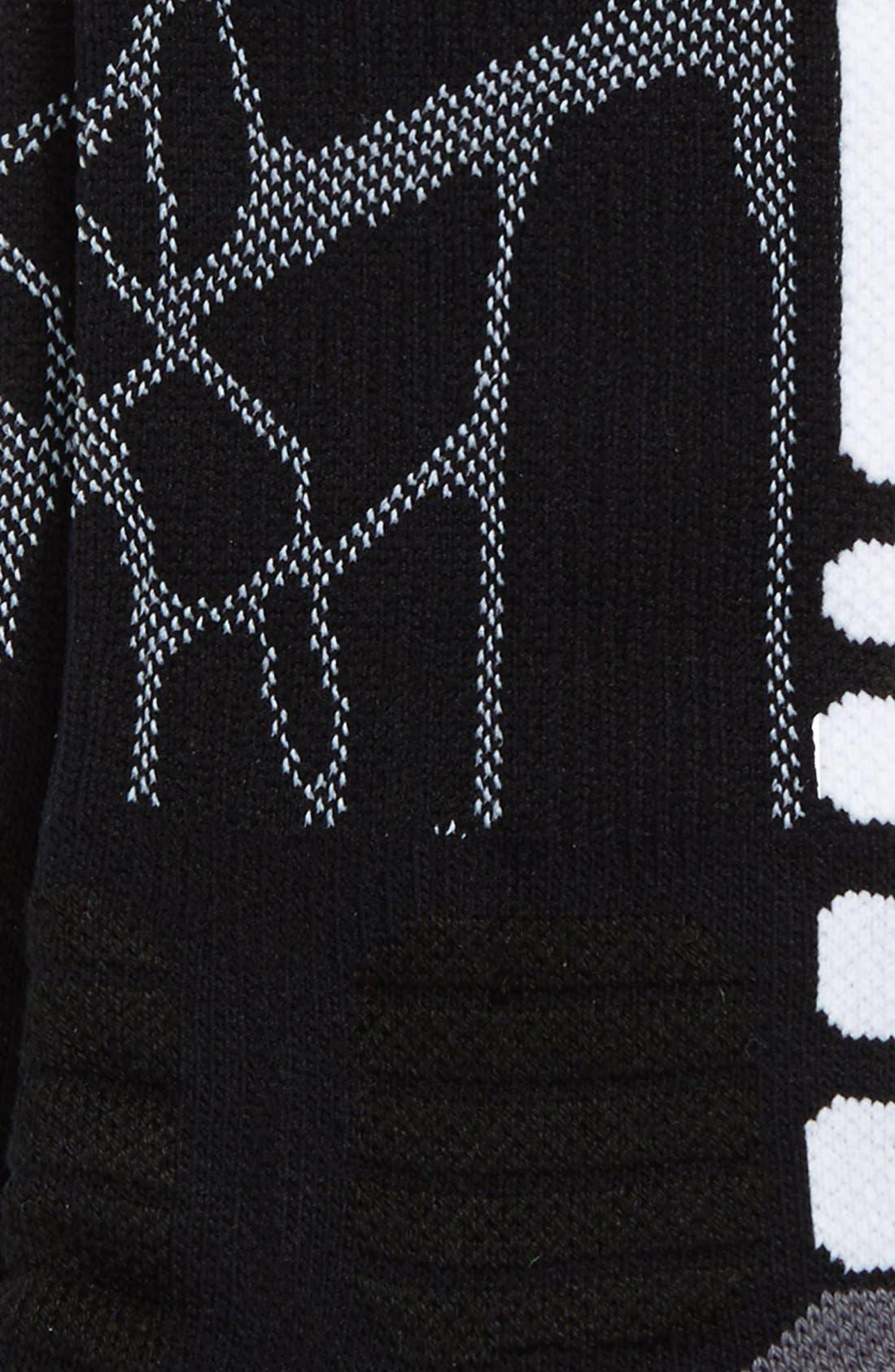 'LeBron - Hyper Elite' Cushioned Basketball Crew Socks,                             Alternate thumbnail 2, color,                             001