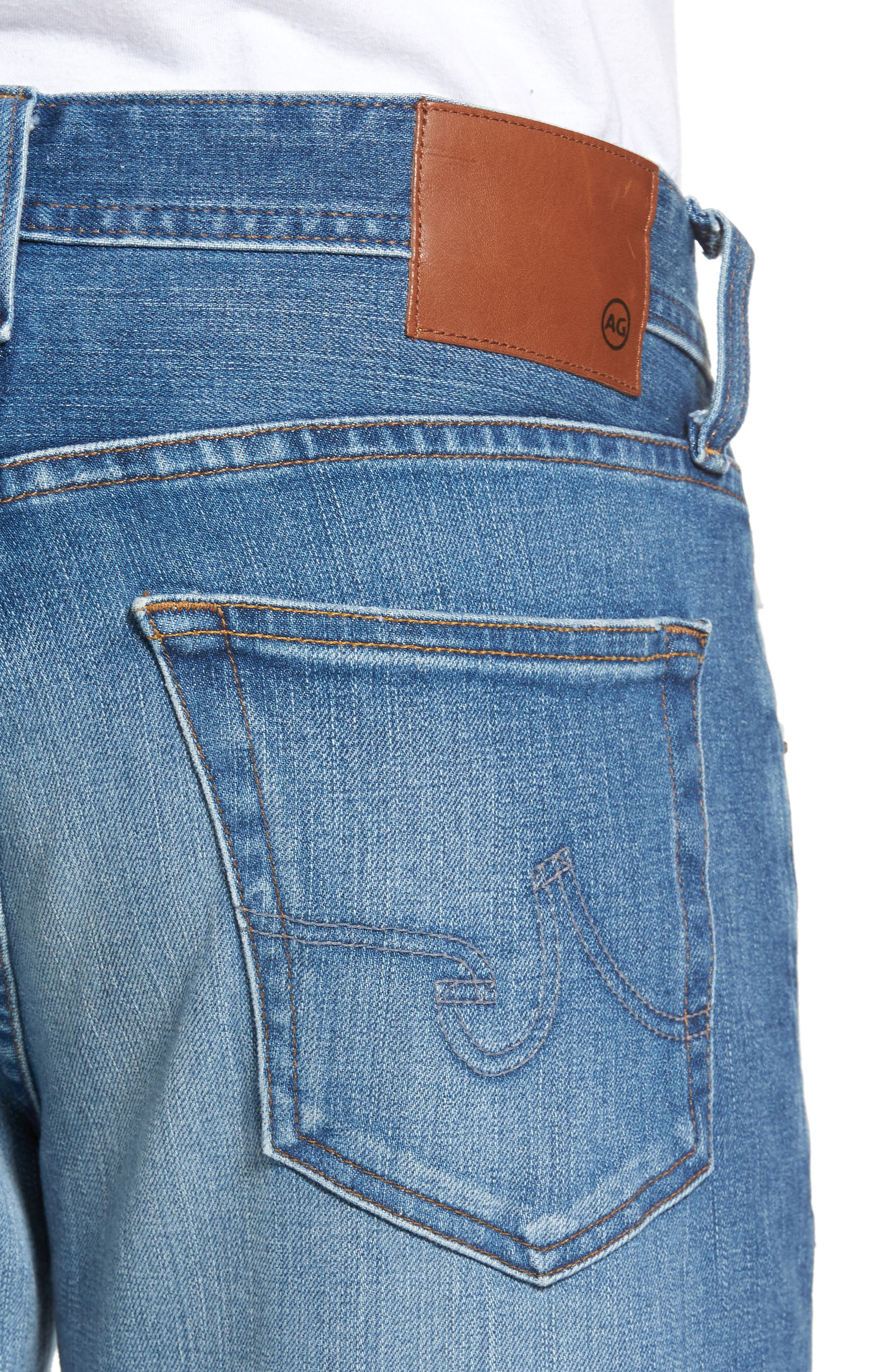 Graduate Slim Straight Fit Jeans,                             Alternate thumbnail 4, color,                             456