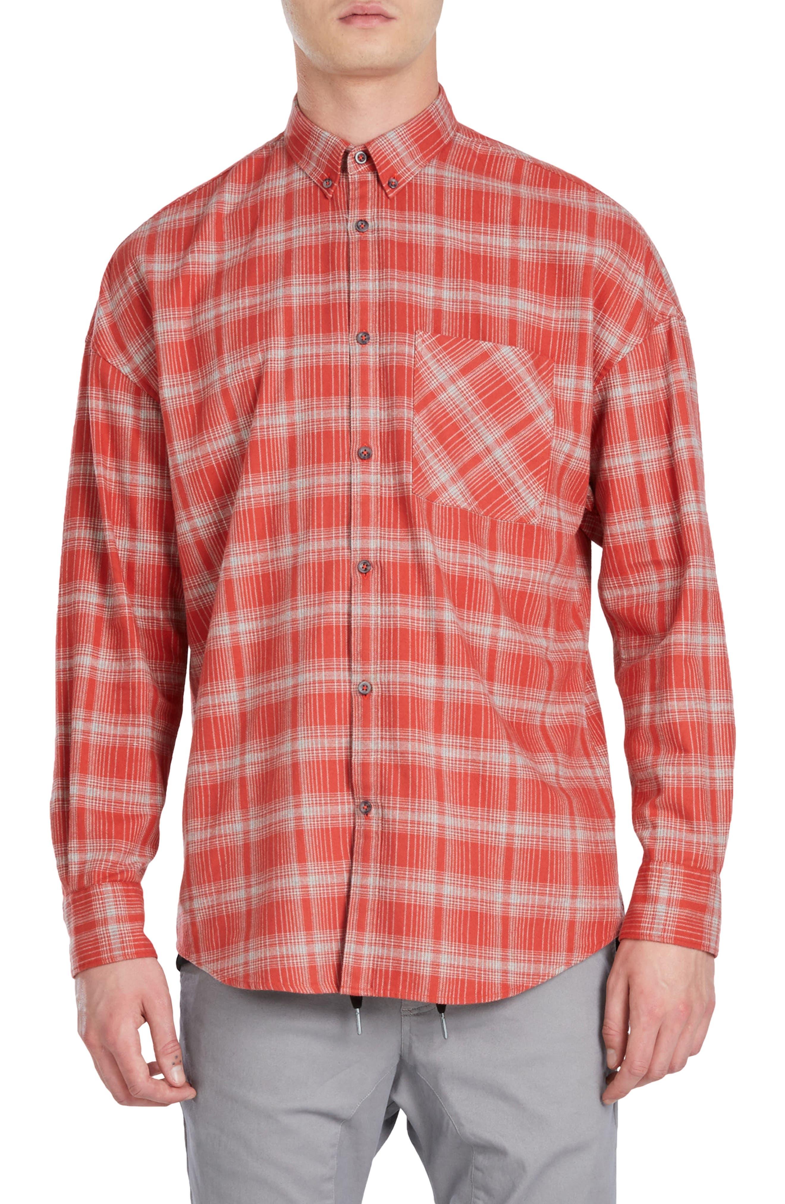 Rugger Plaid Sport Shirt,                         Main,                         color, 641