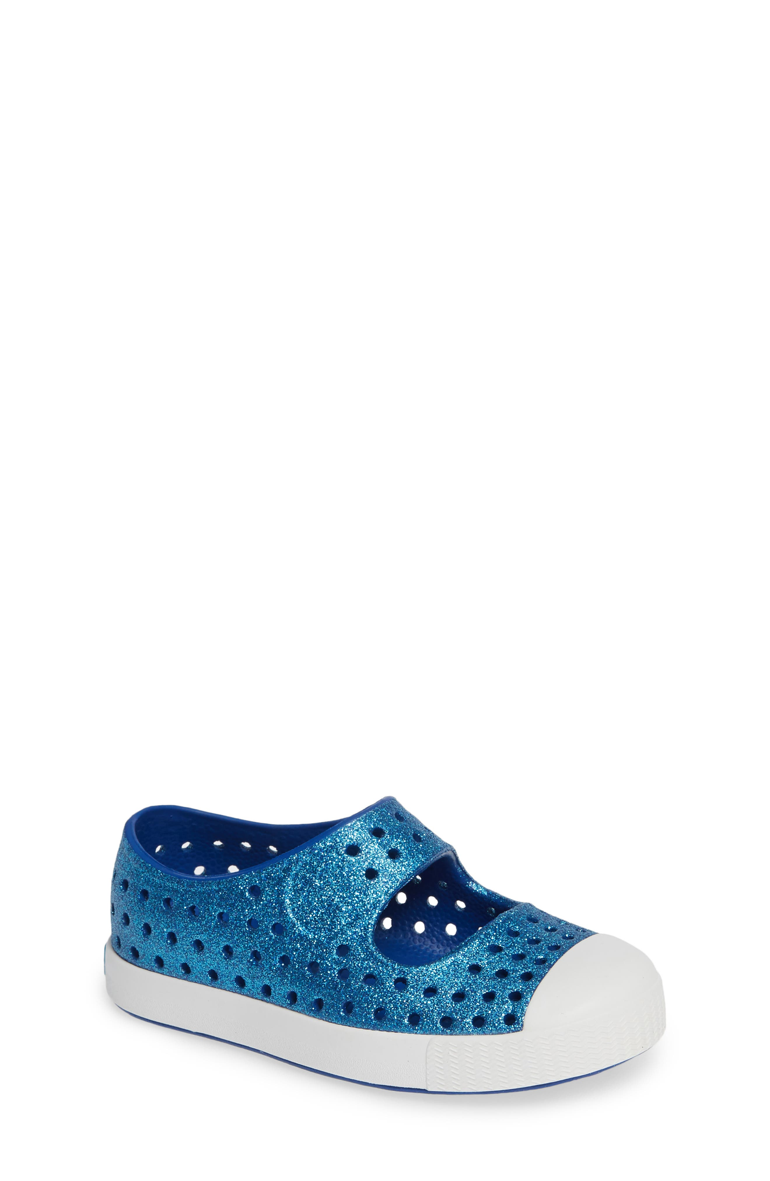 Juniper Bling Glitter Perforated Mary Jane,                         Main,                         color, VICTORIA BLING/ SHELL WHITE