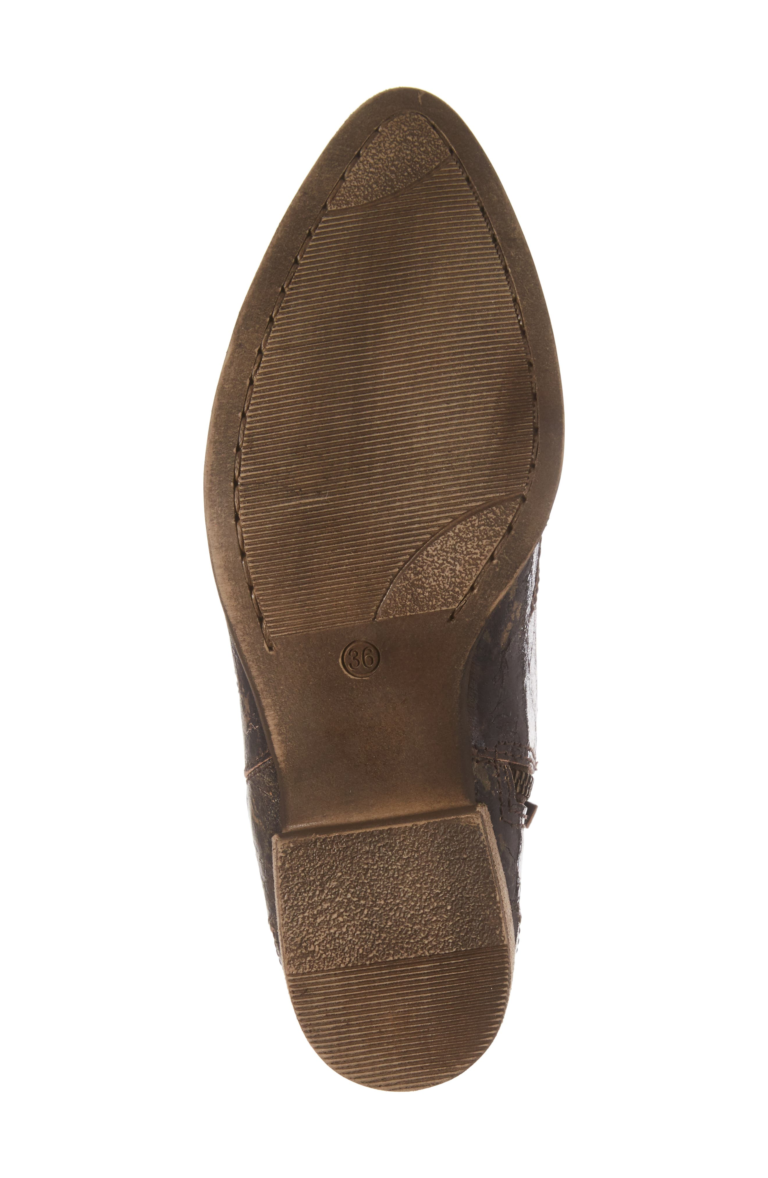 Crinkle Finish Star Bootie,                             Alternate thumbnail 6, color,                             MID BROWN LEATHER