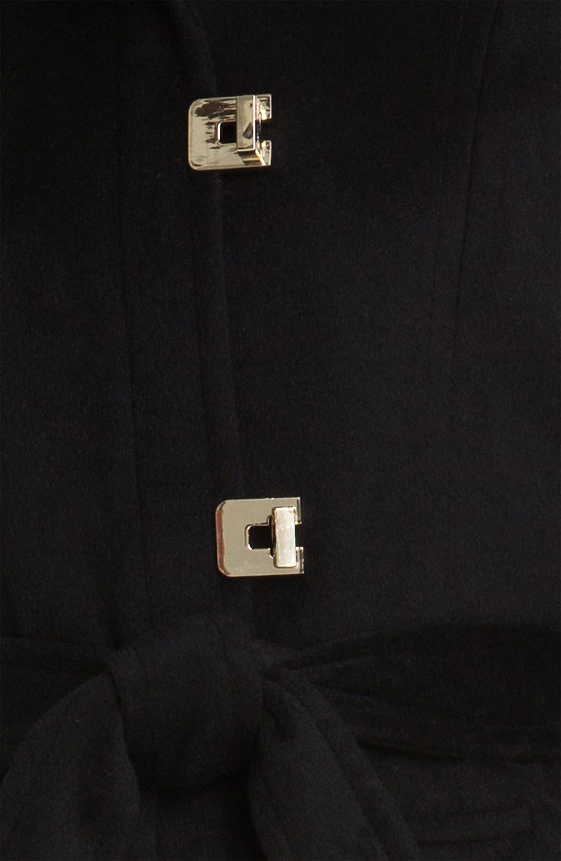 Faux Fur Trim Turnkey Coat,                             Alternate thumbnail 3, color,