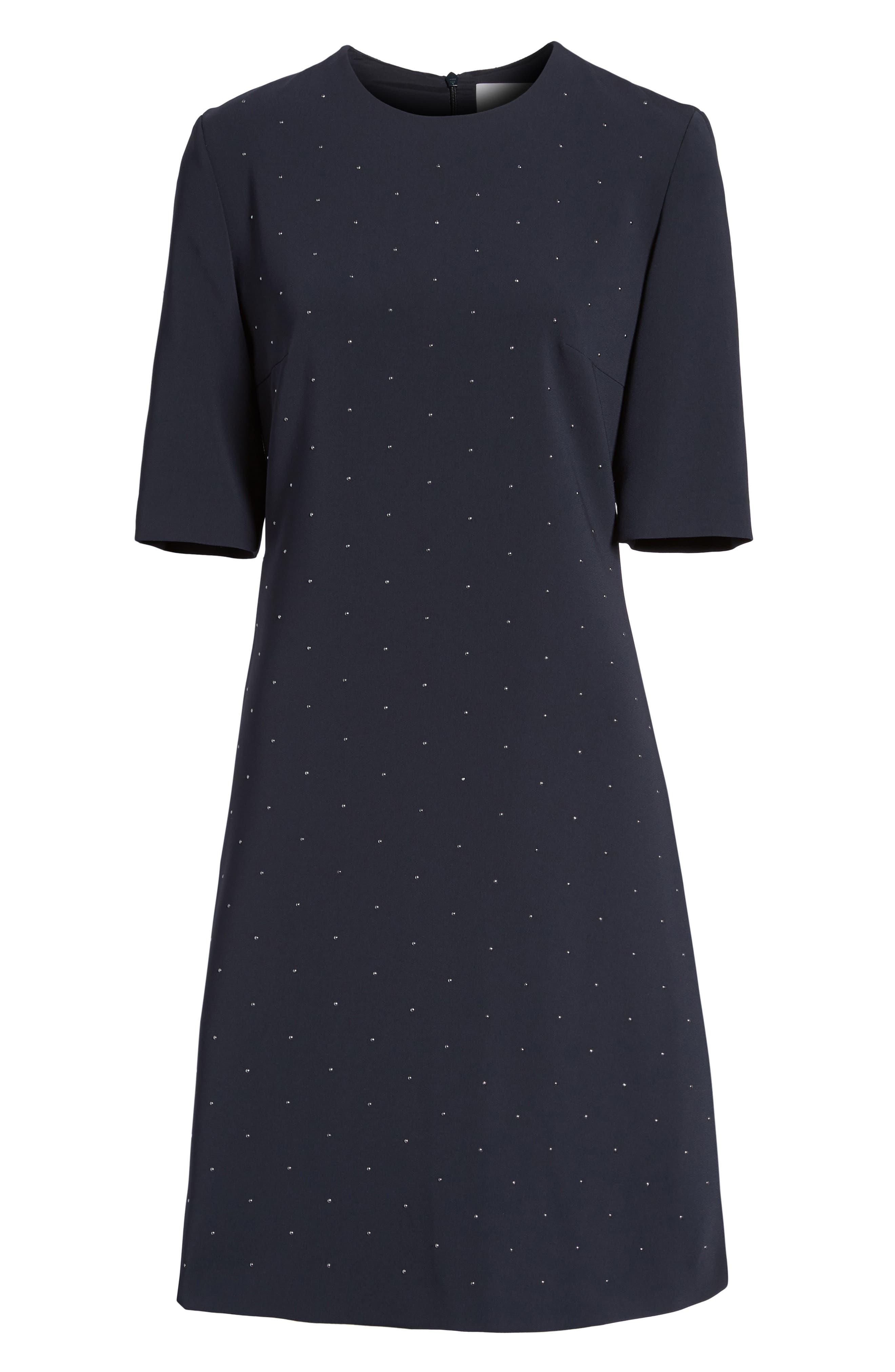 Durasia Embellished A-Line Dress,                             Alternate thumbnail 6, color,                             480