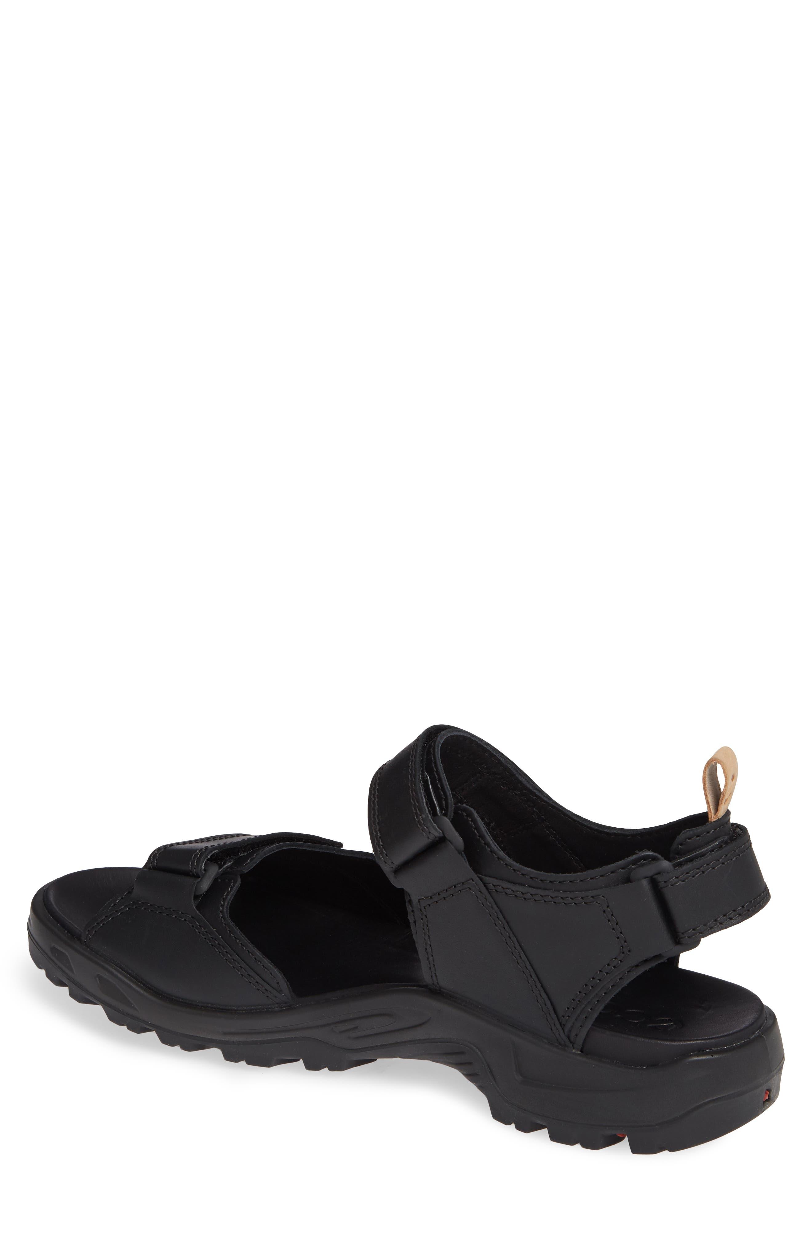 Premium Offroad Sandal,                             Alternate thumbnail 2, color,                             BLACK LEATHER