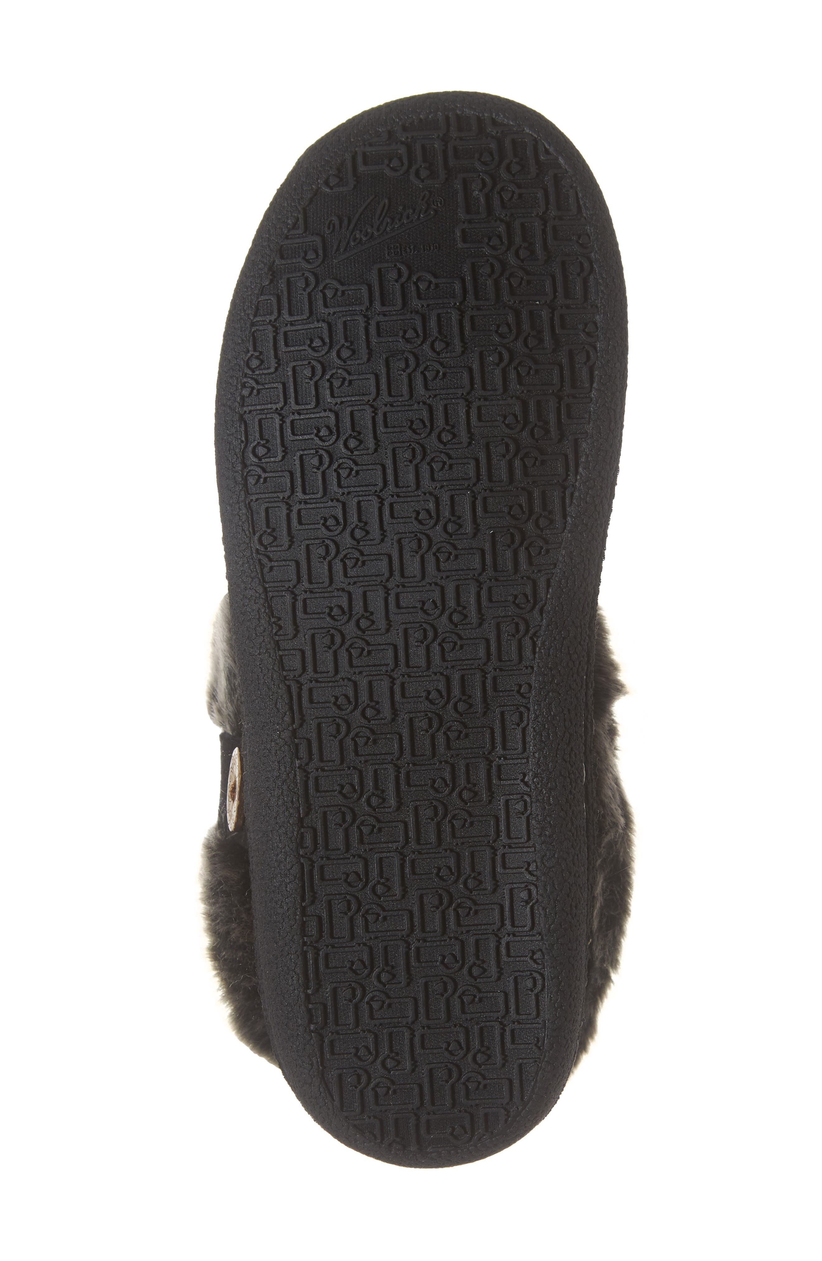 Grand Lodge Slipper,                             Alternate thumbnail 6, color,                             BLACK WOOL