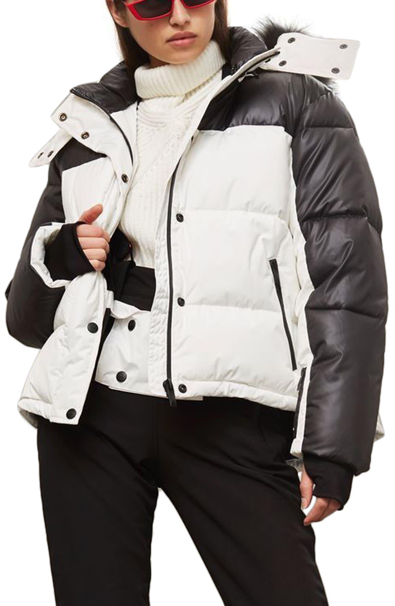 SNO Siren Ski Puffer Jacket,                             Alternate thumbnail 3, color,                             100