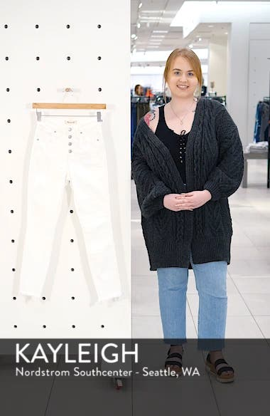 10-Inch Button High Waist Crop Skinny Jeans, sales video thumbnail