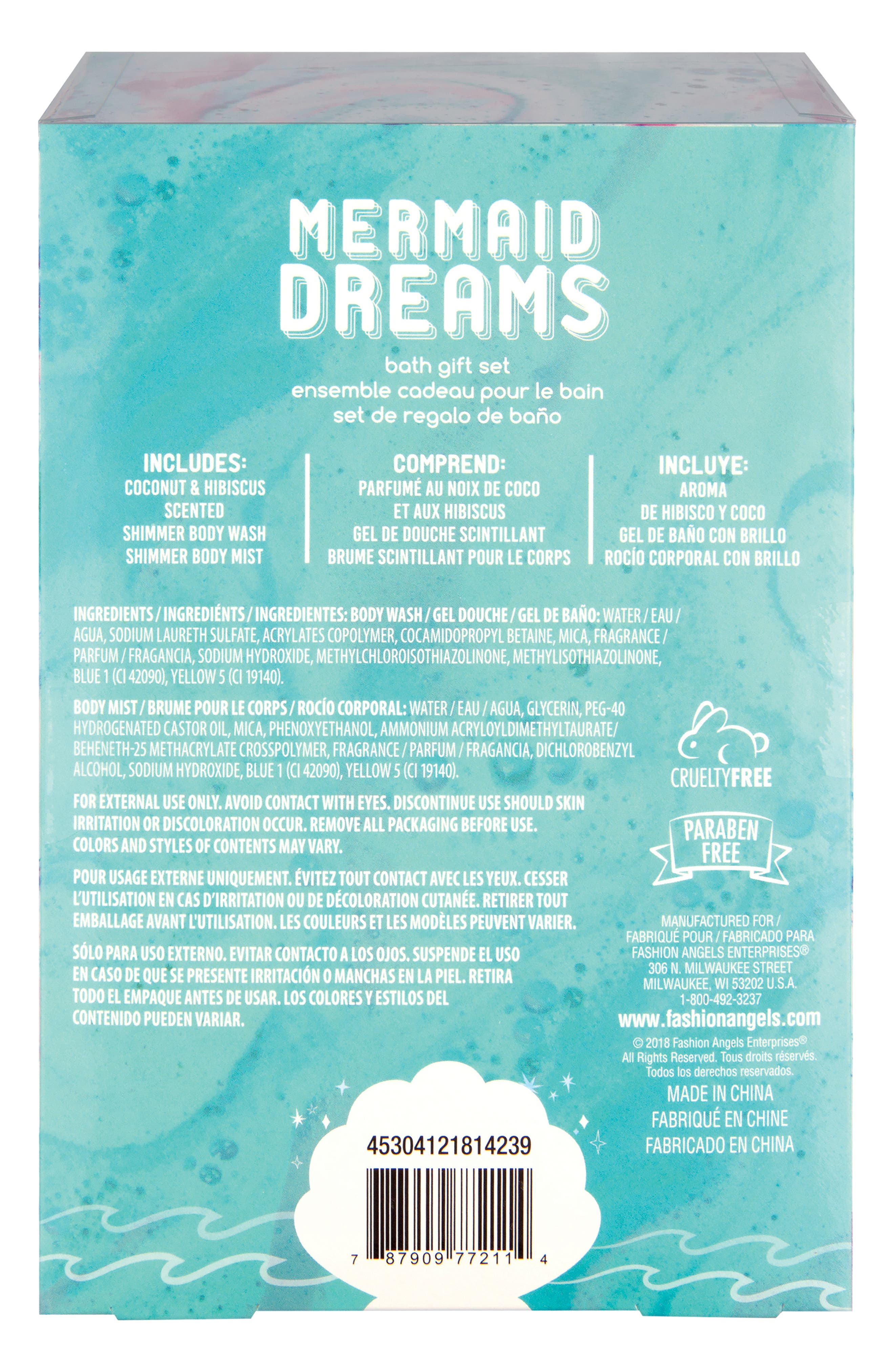 Mermaid Dreams Bath Gift Set,                             Alternate thumbnail 2, color,                             TEAL