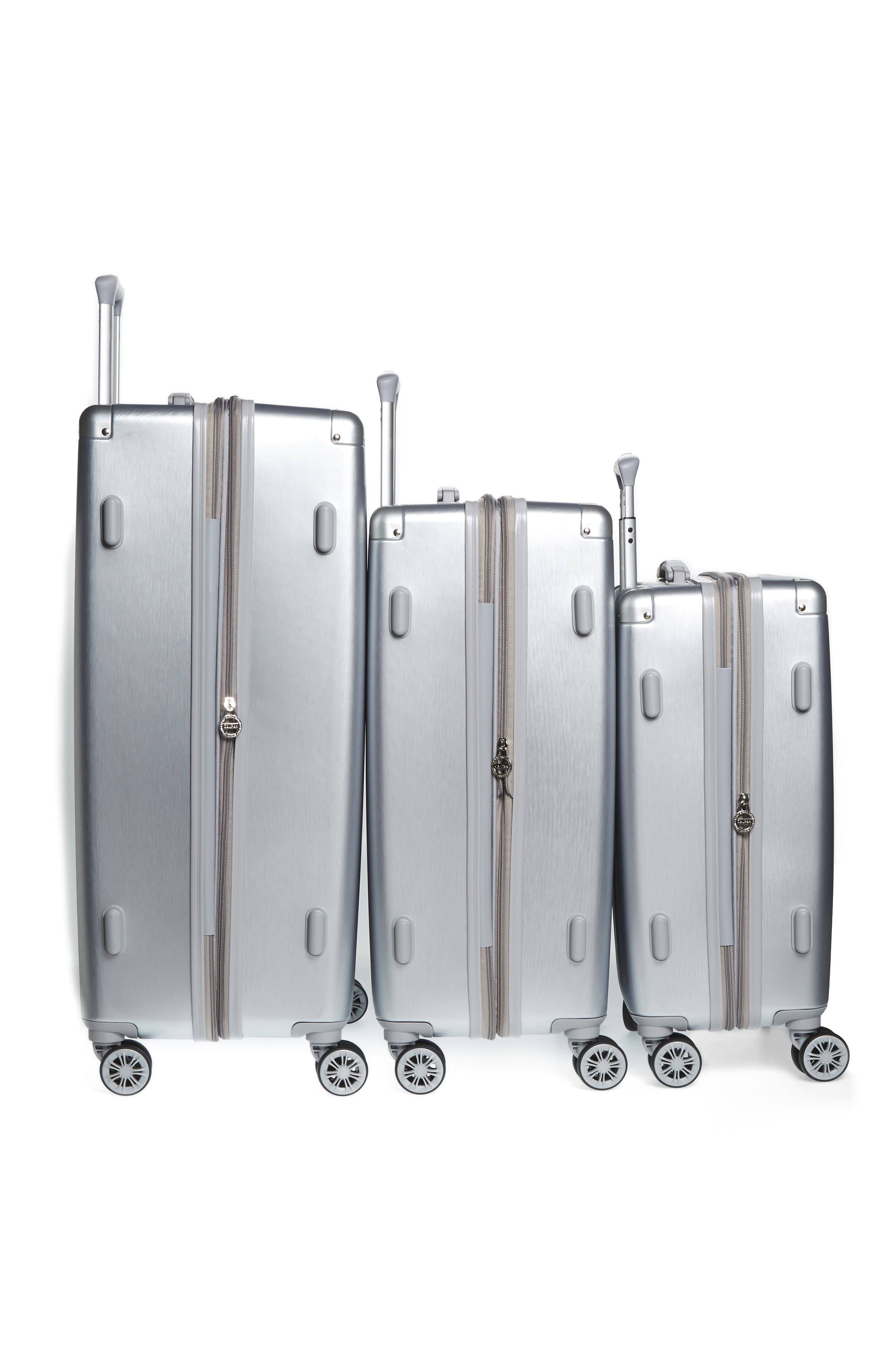 Ambeur 2-Piece Spinner Luggage Set,                             Alternate thumbnail 3, color,                             WHITE