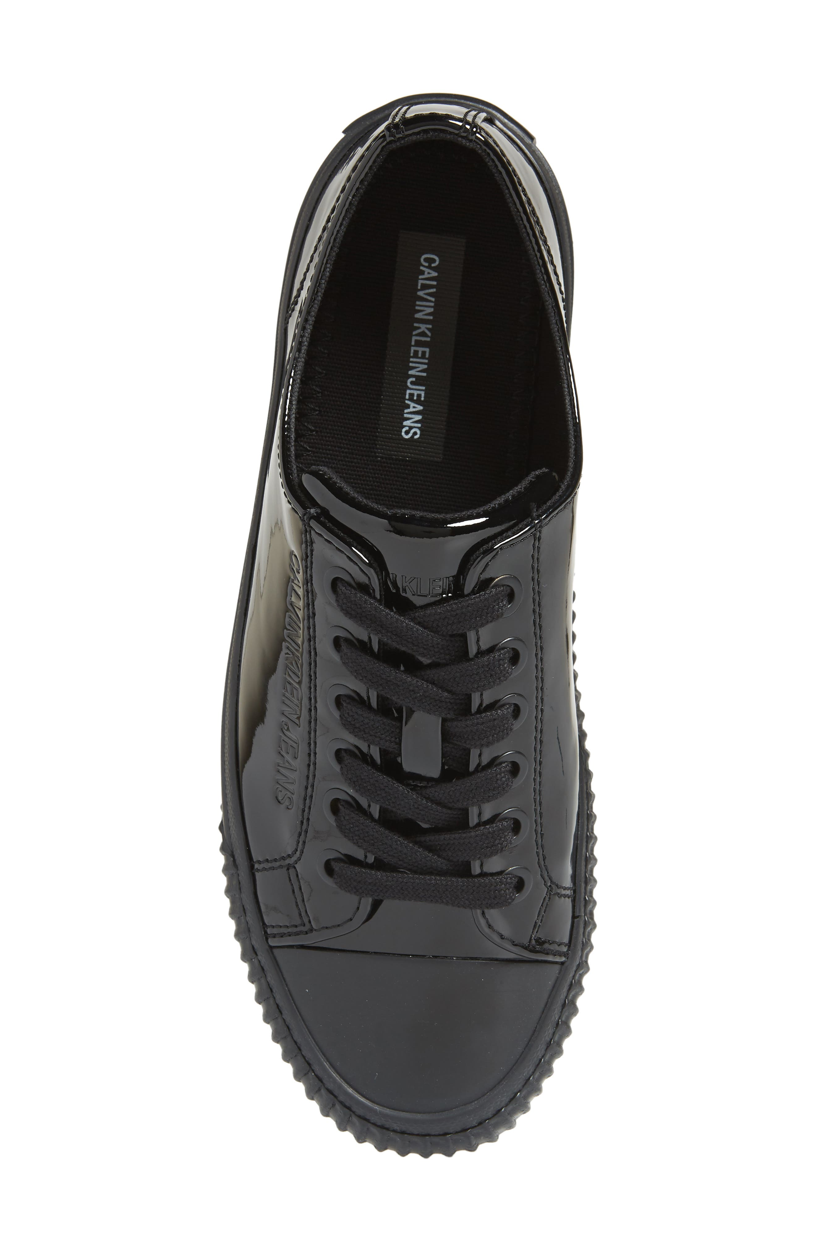Ireland Lace-Up Sneaker,                             Alternate thumbnail 5, color,                             BLACK